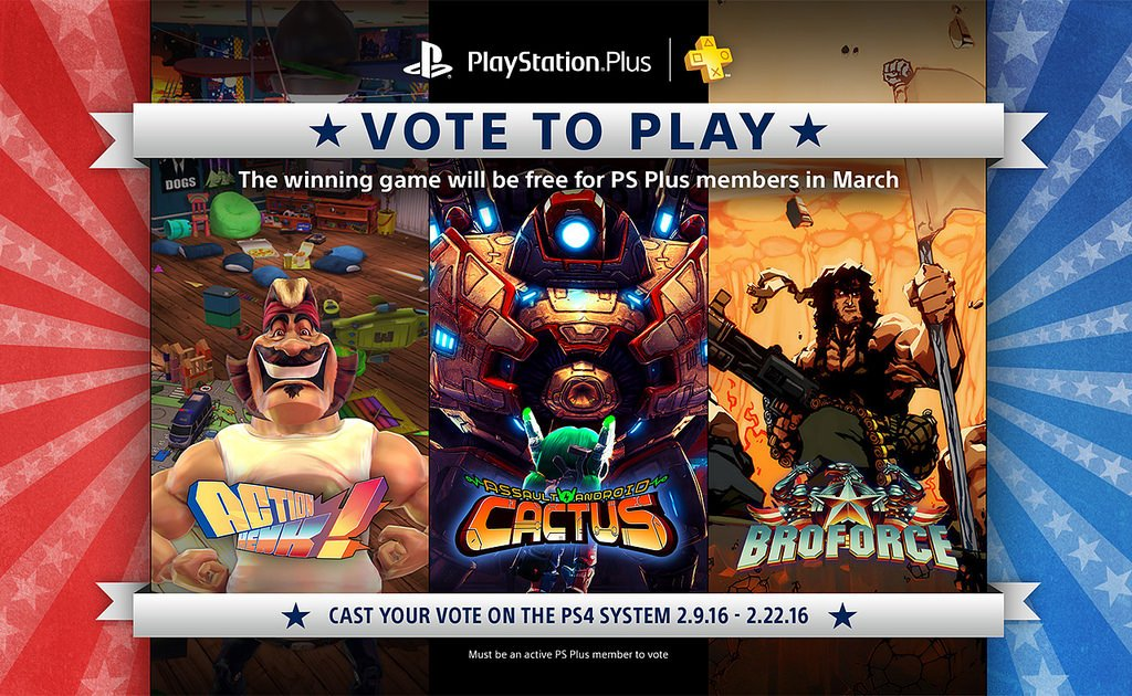 PlayStation Plus members can vote for March's free game