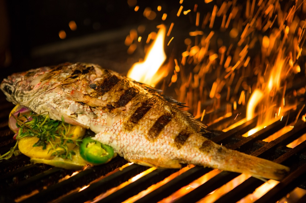 Whole Red Snapper on the new Woodburning Grill