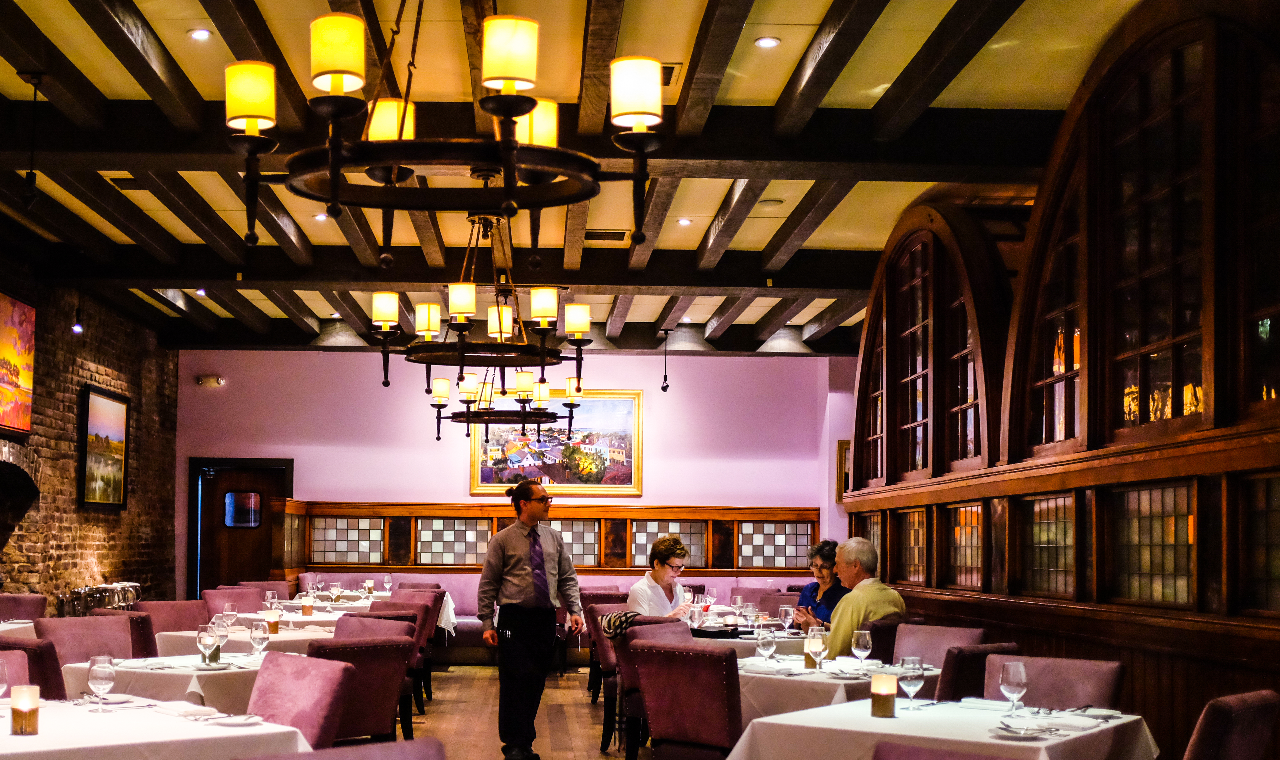 Happy hour is only available at the bar, but here's a photo of the dining room.