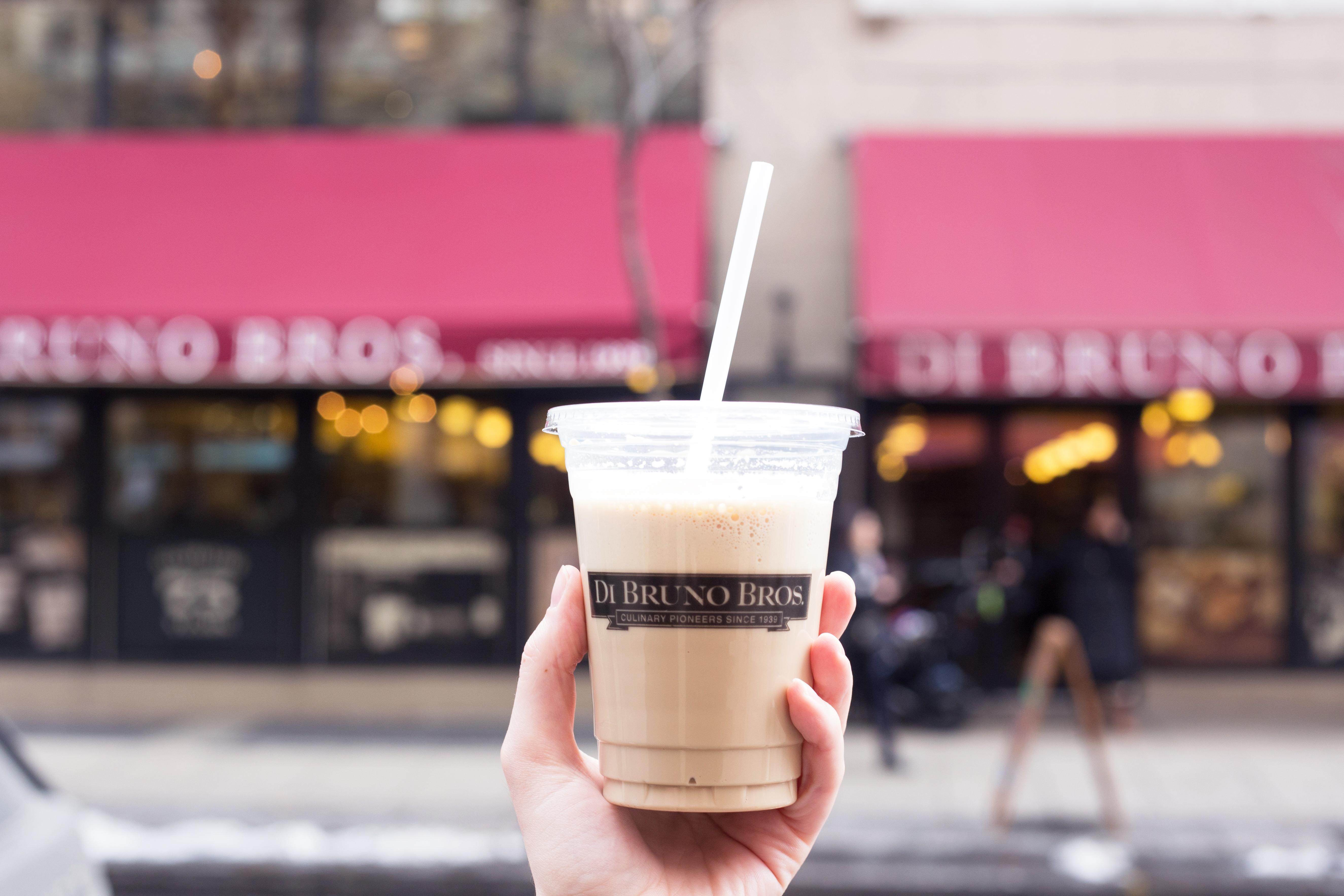Draft latte at Di Bruno Bros.