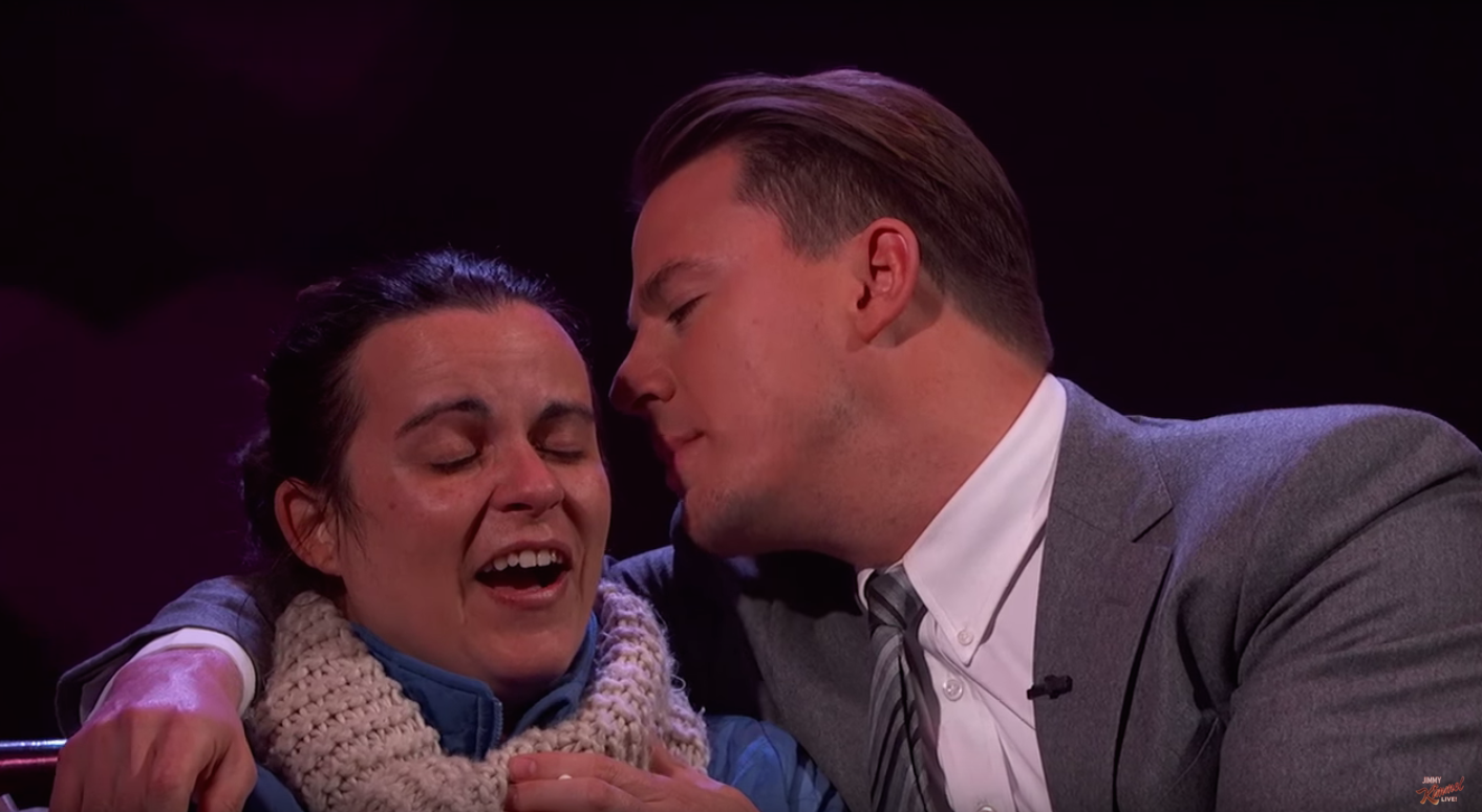 Channing Tatum Feeding Valentine Hearts to Random Fan Results In Spectacular Facial Expressions