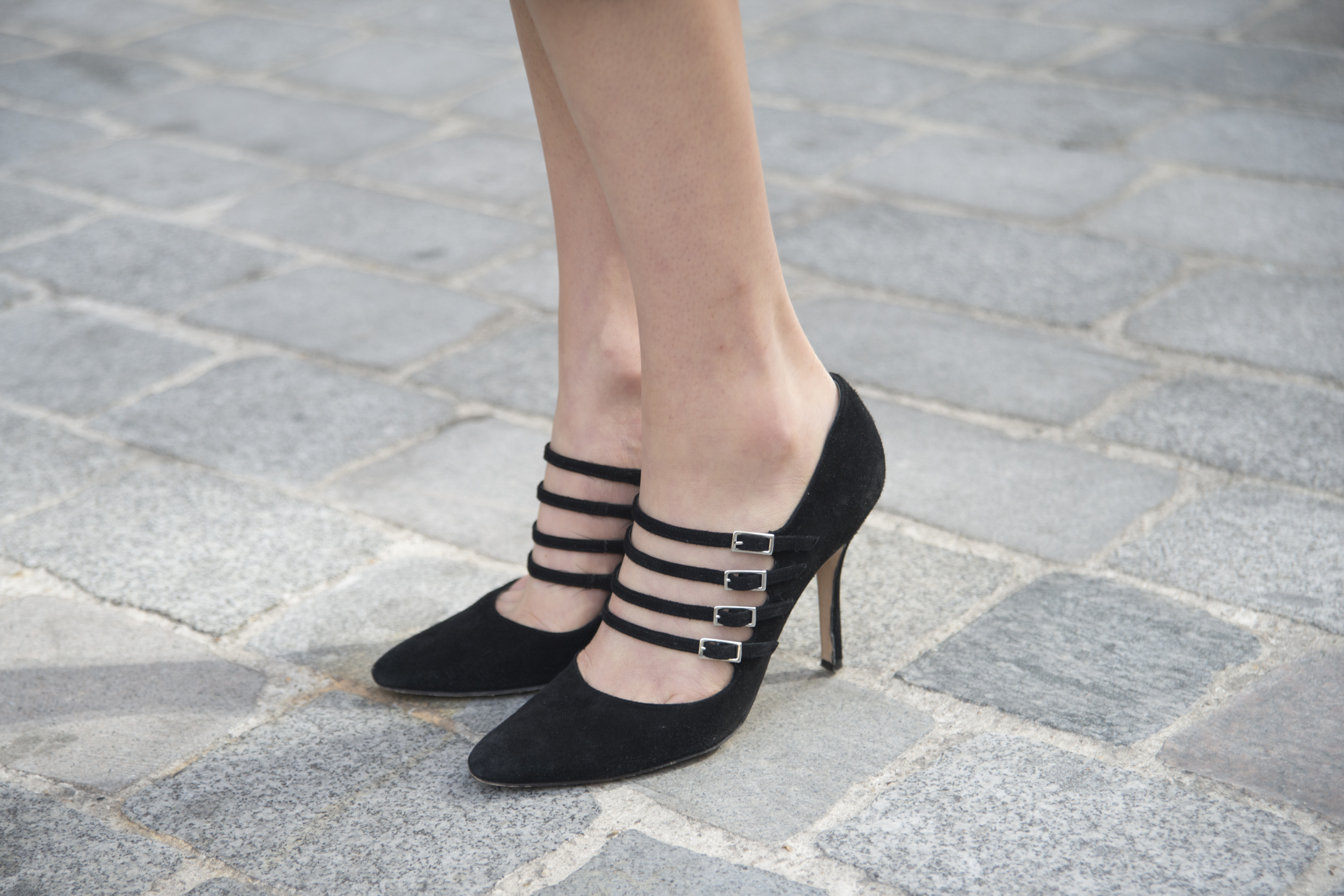 Manolo Blahnik shoes spotted during Paris Fashion Week