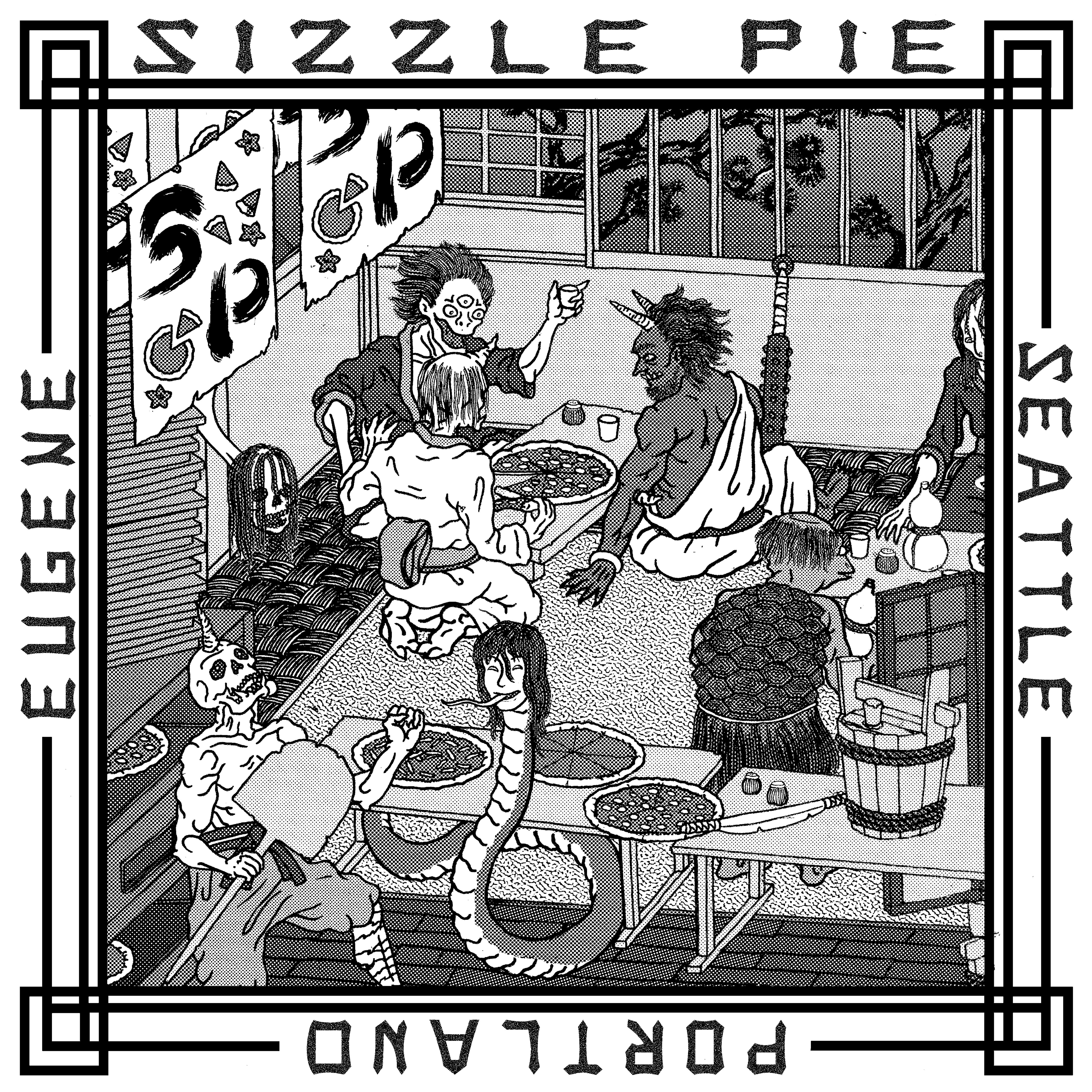 Artist series pizza box artwork, by Chris Bilyeu