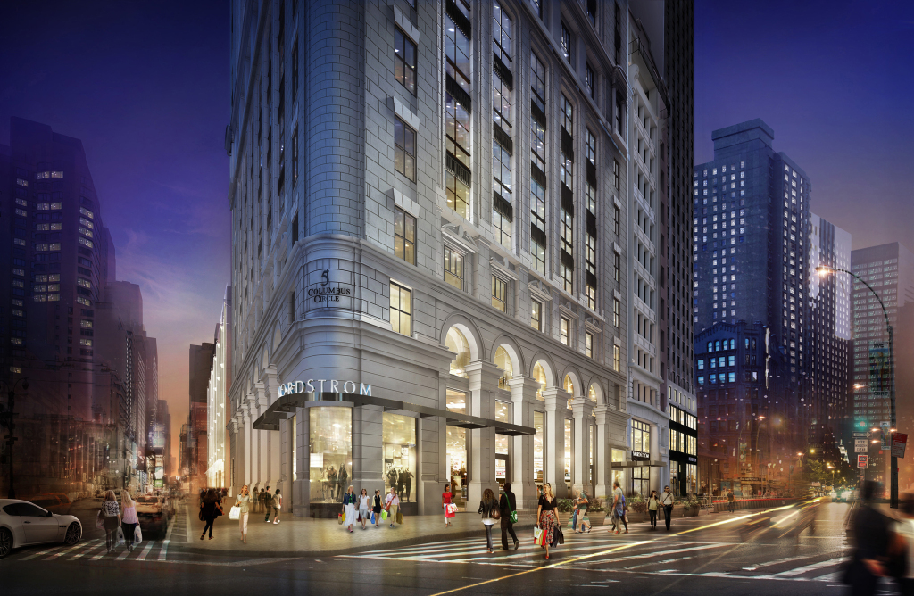A rendering of Nordstrom's new Manhattan flagship