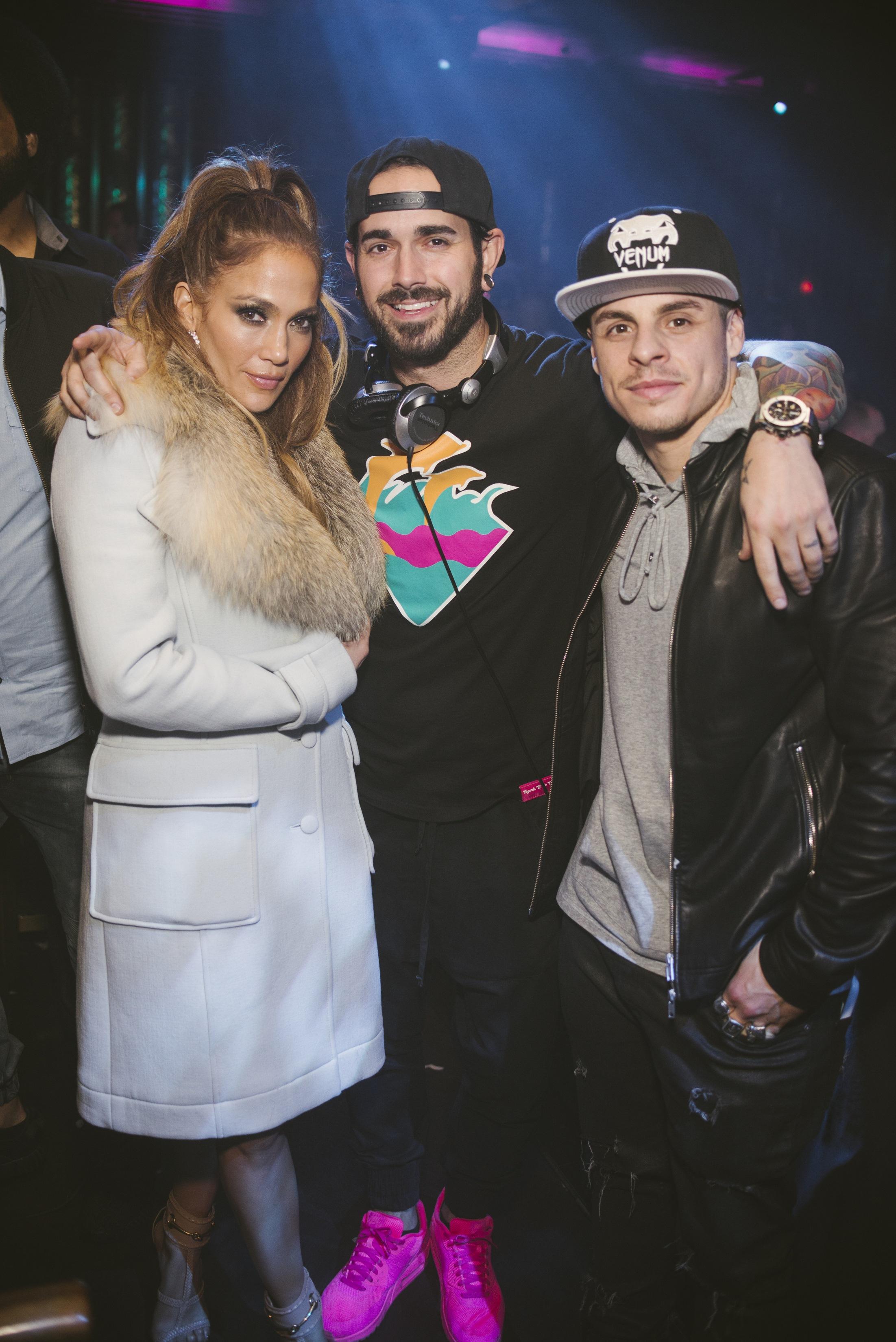 Jennifer Lopez, DJ Shift and Casper Smart