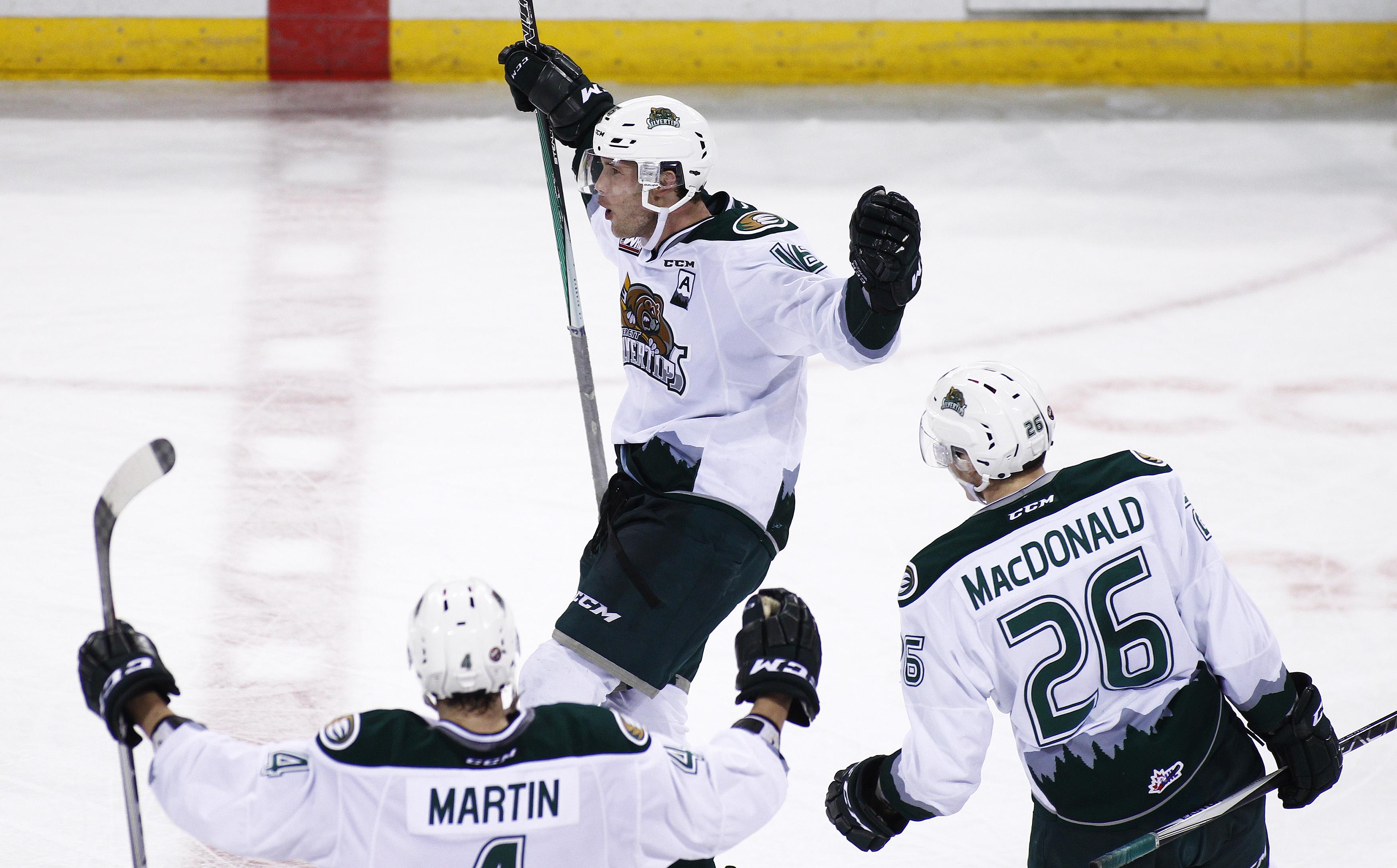 Carson Stadnyk celebrating a goal