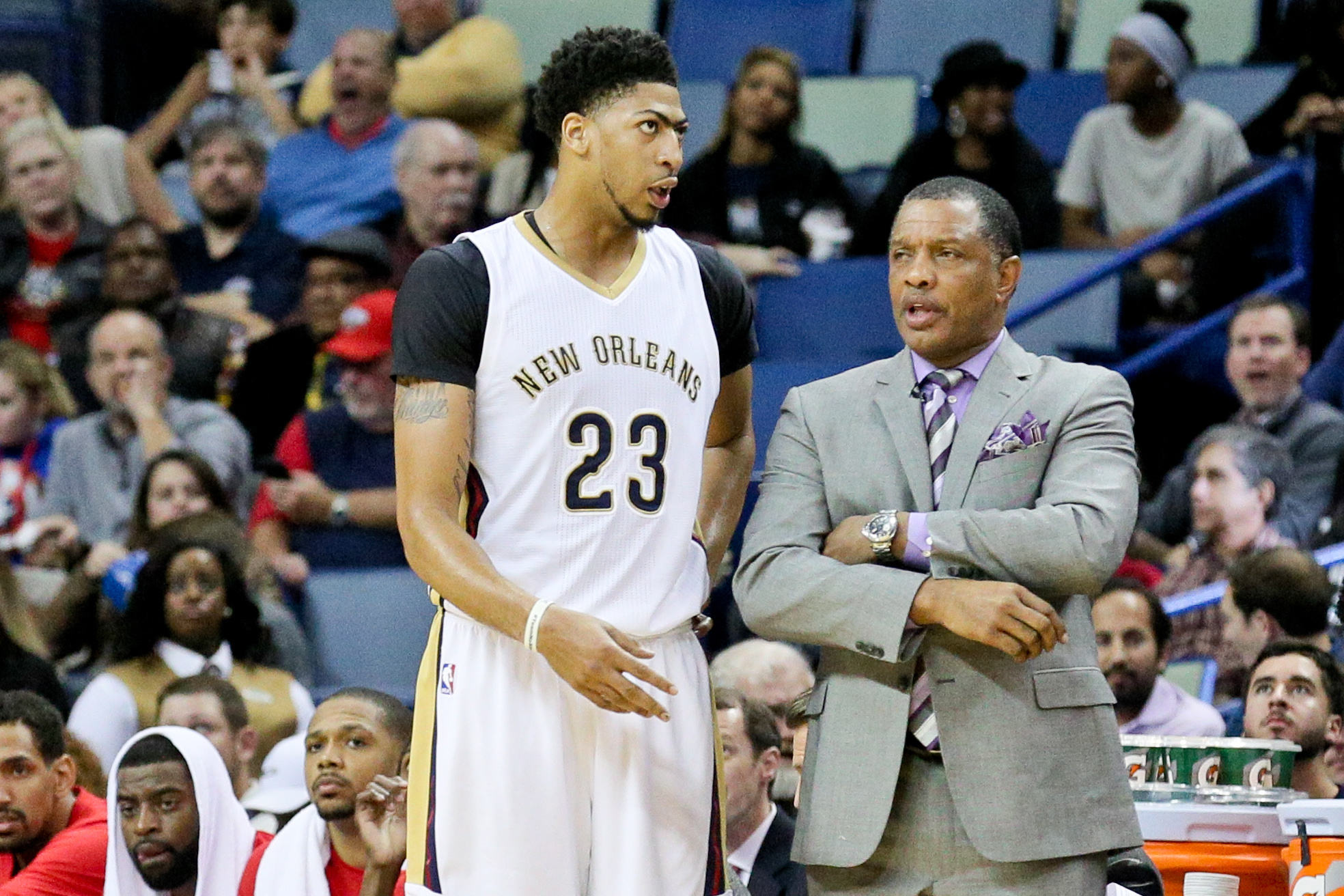 """""""Hey coach, what about if we ran some PnR to get me dunks and layups instead?"""""""