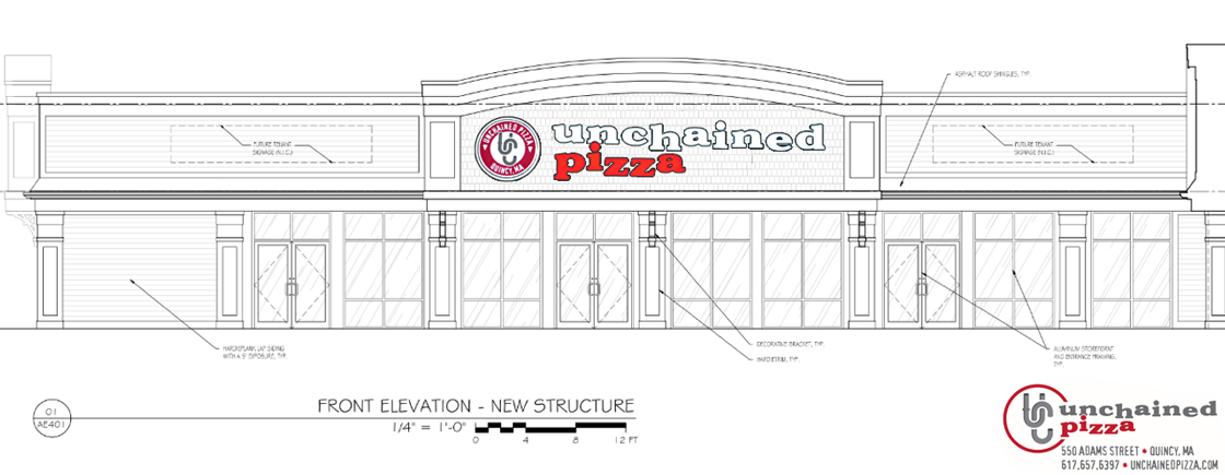 Rendering for Unchained Pizza in Quincy