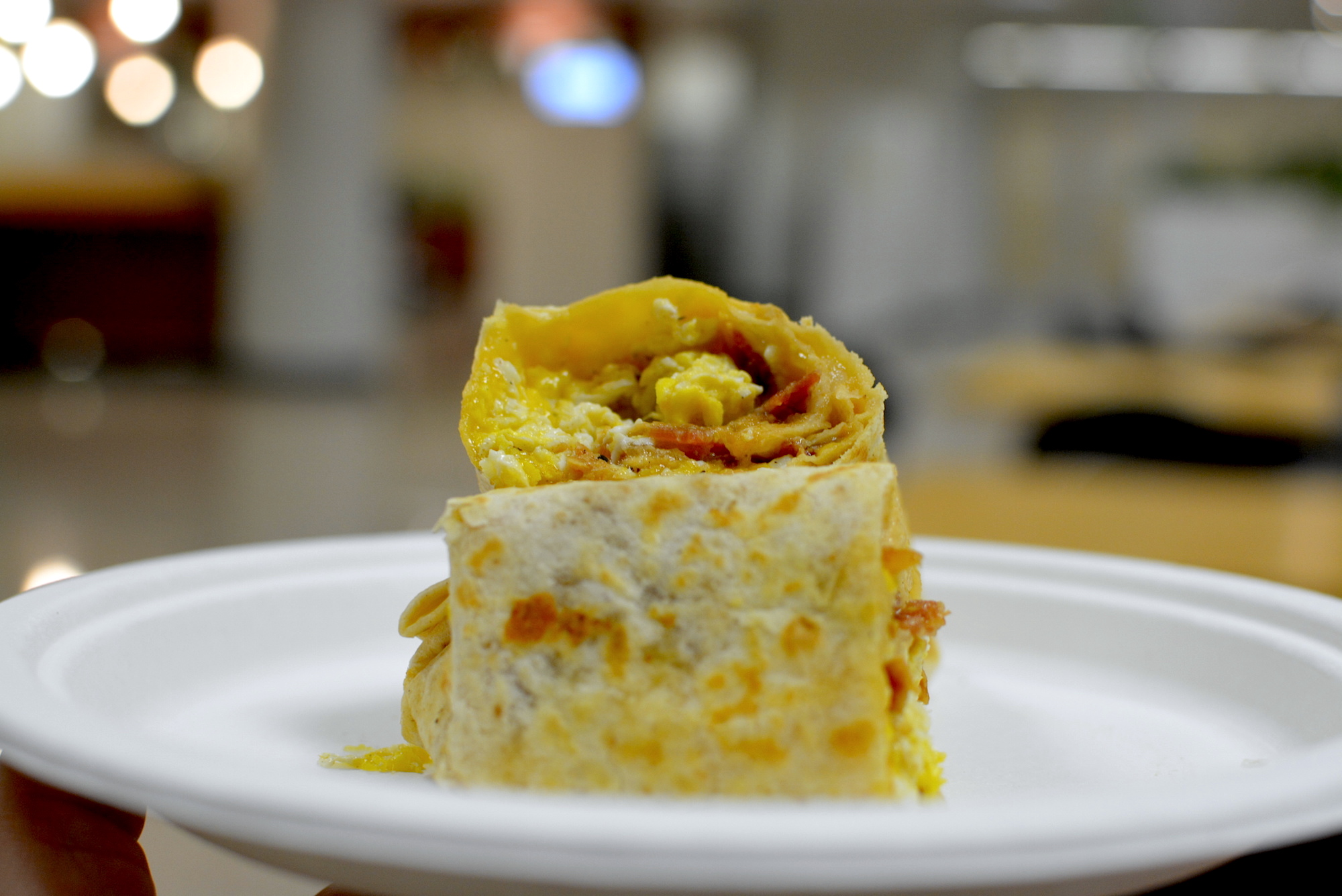 $4 breakfast burrito at the Kenneth Hahn Hall of Administration, Downtown