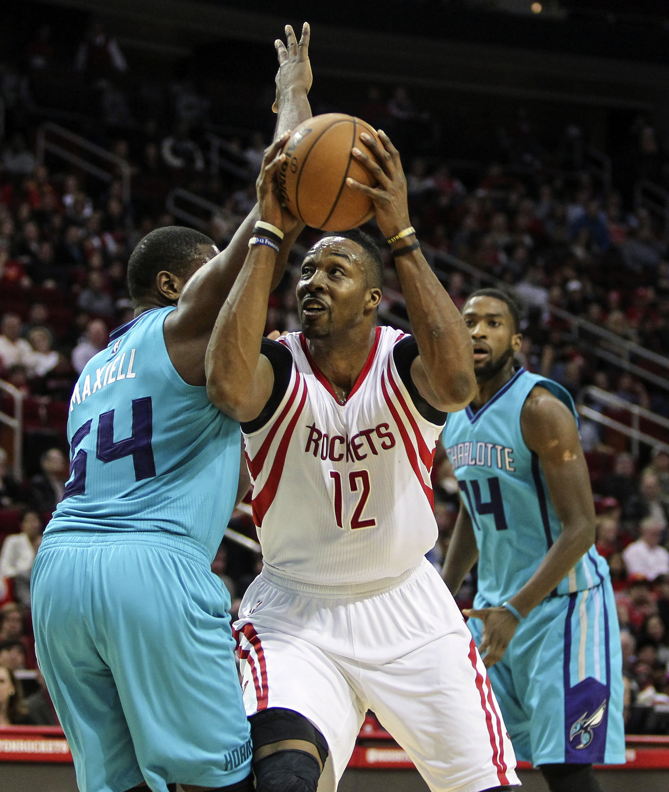 The Houston Rockets are discussing Dwight Howard to the Charlotte Hornets.