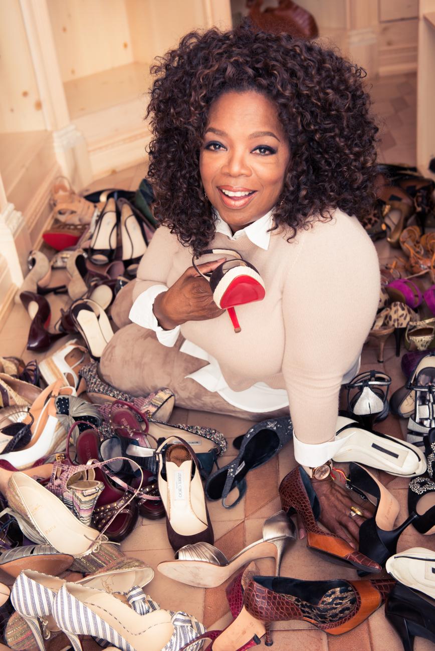 Oprah Kondo-ed Her Closet