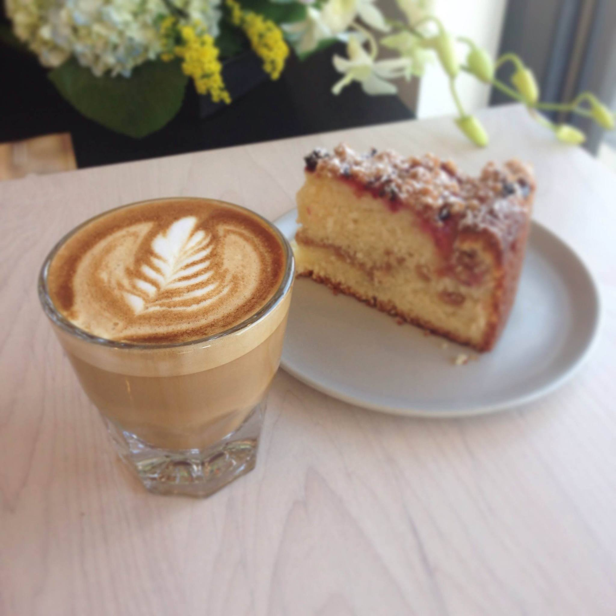 Patika's coffee and baked good