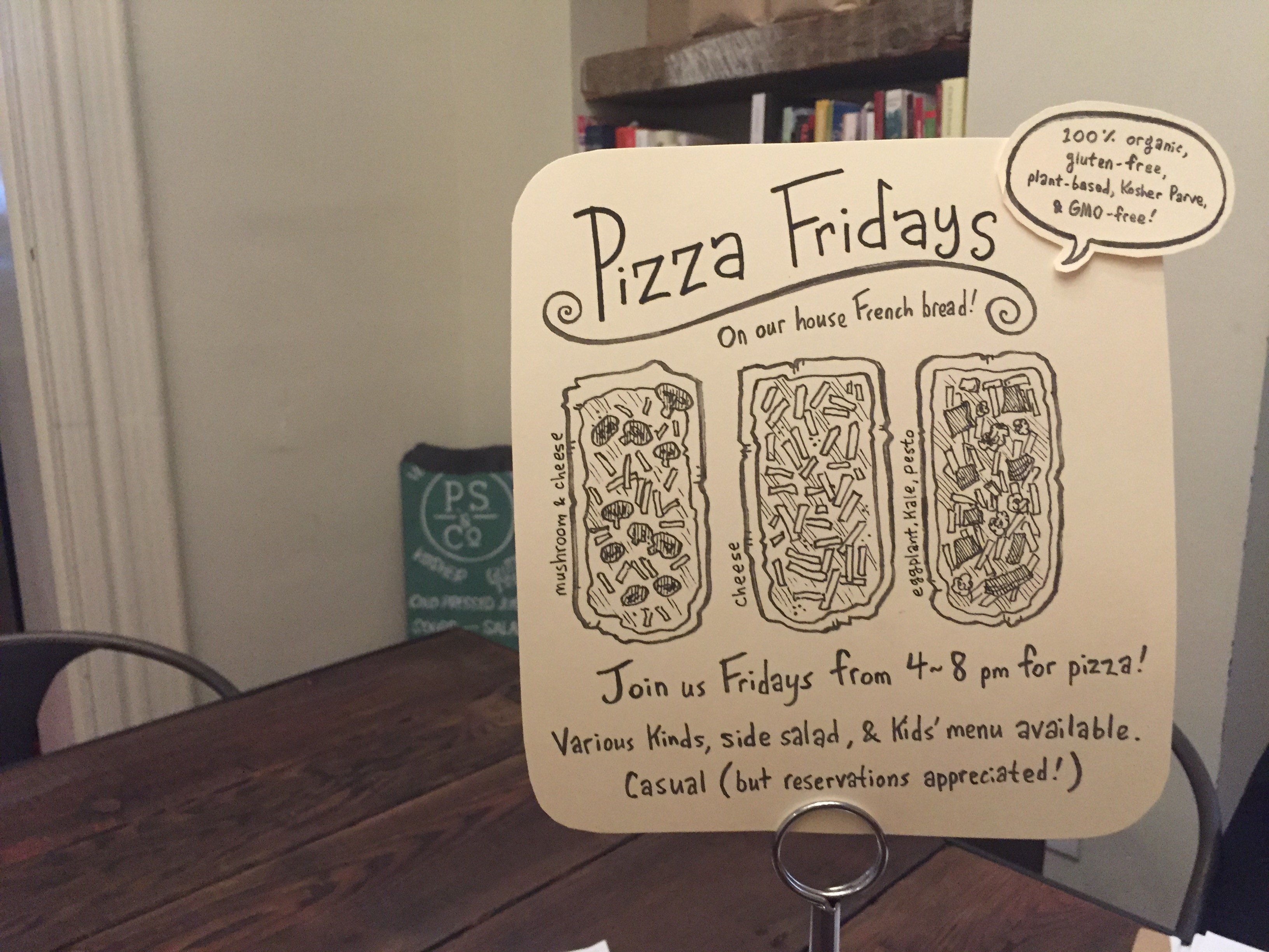 Pizza Fridays at P.S. & Co.