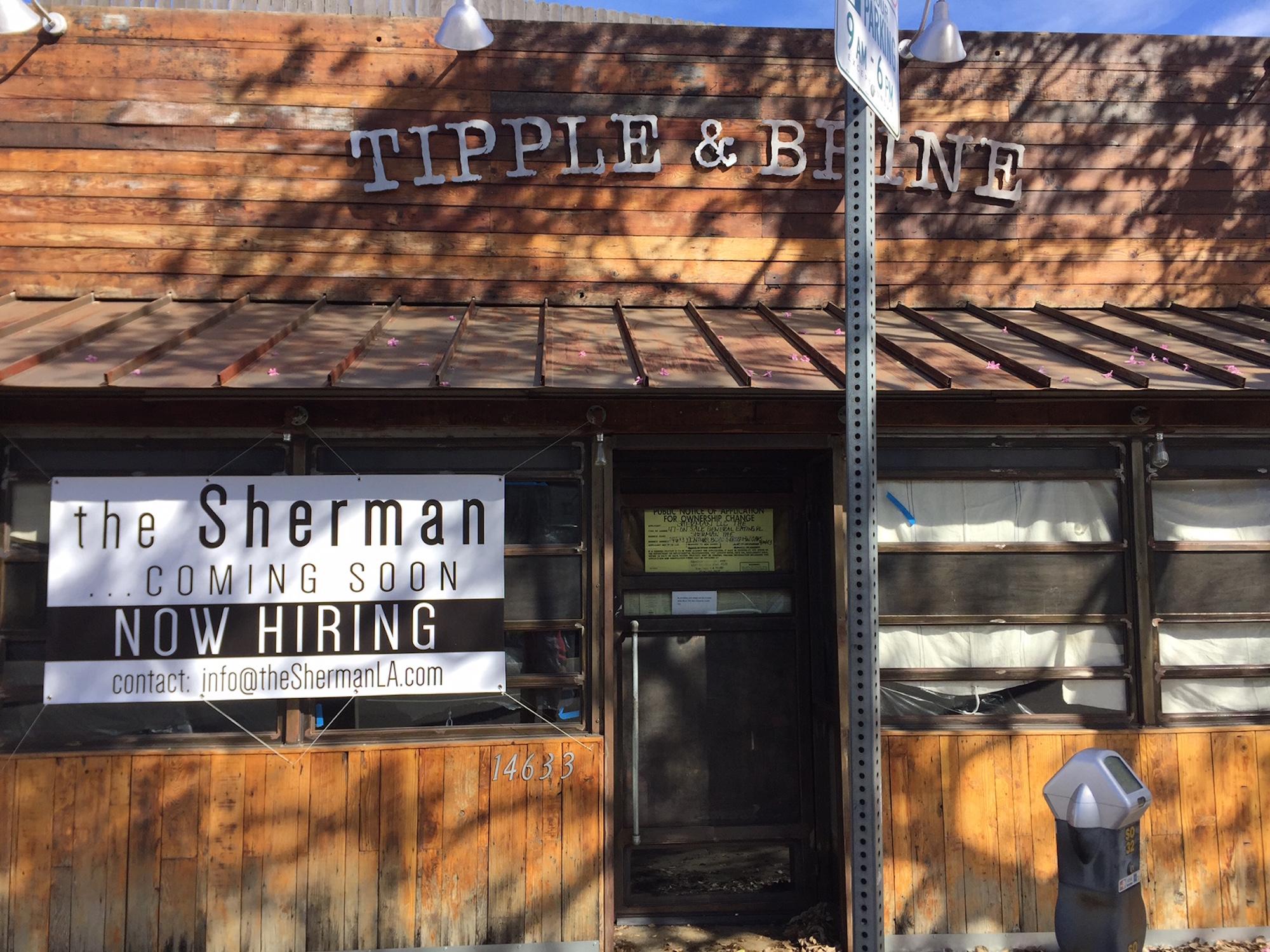 Outside the former Tipple & Brine in Sherman Oaks