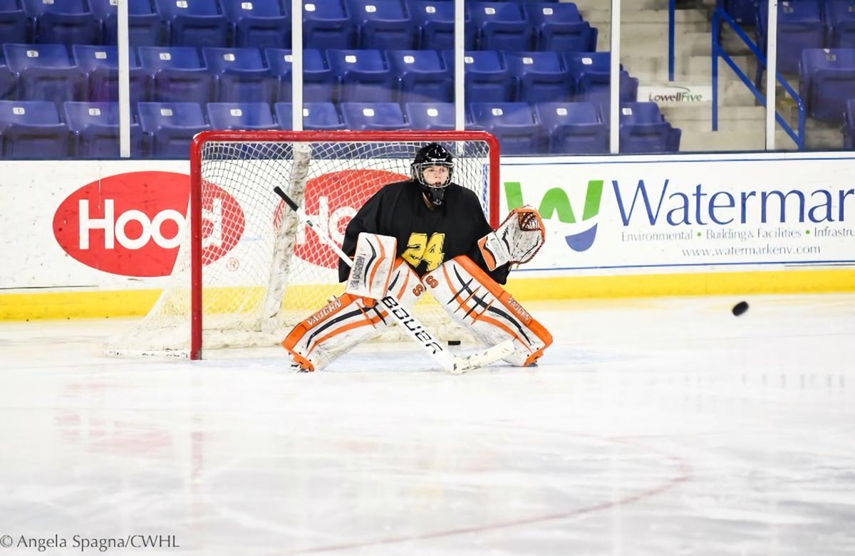 Boston Blades goaltender Amanda Cariddi.