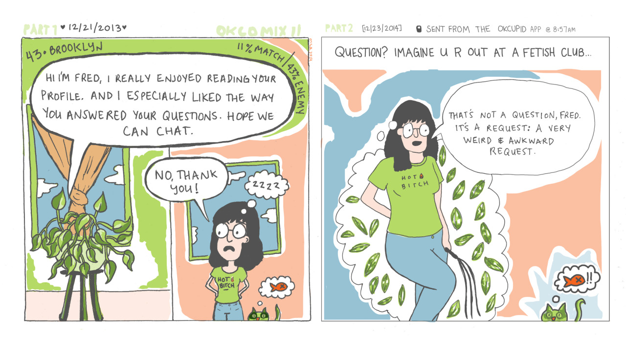 Men send me really weird messages on OKCupid. So I turned them into comics. - Vox