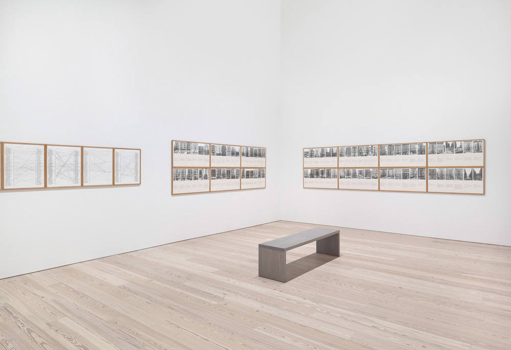 Installation view of America Is Hard to See (Whitney Museum of American Art). Photography by Ronald Amstutz.