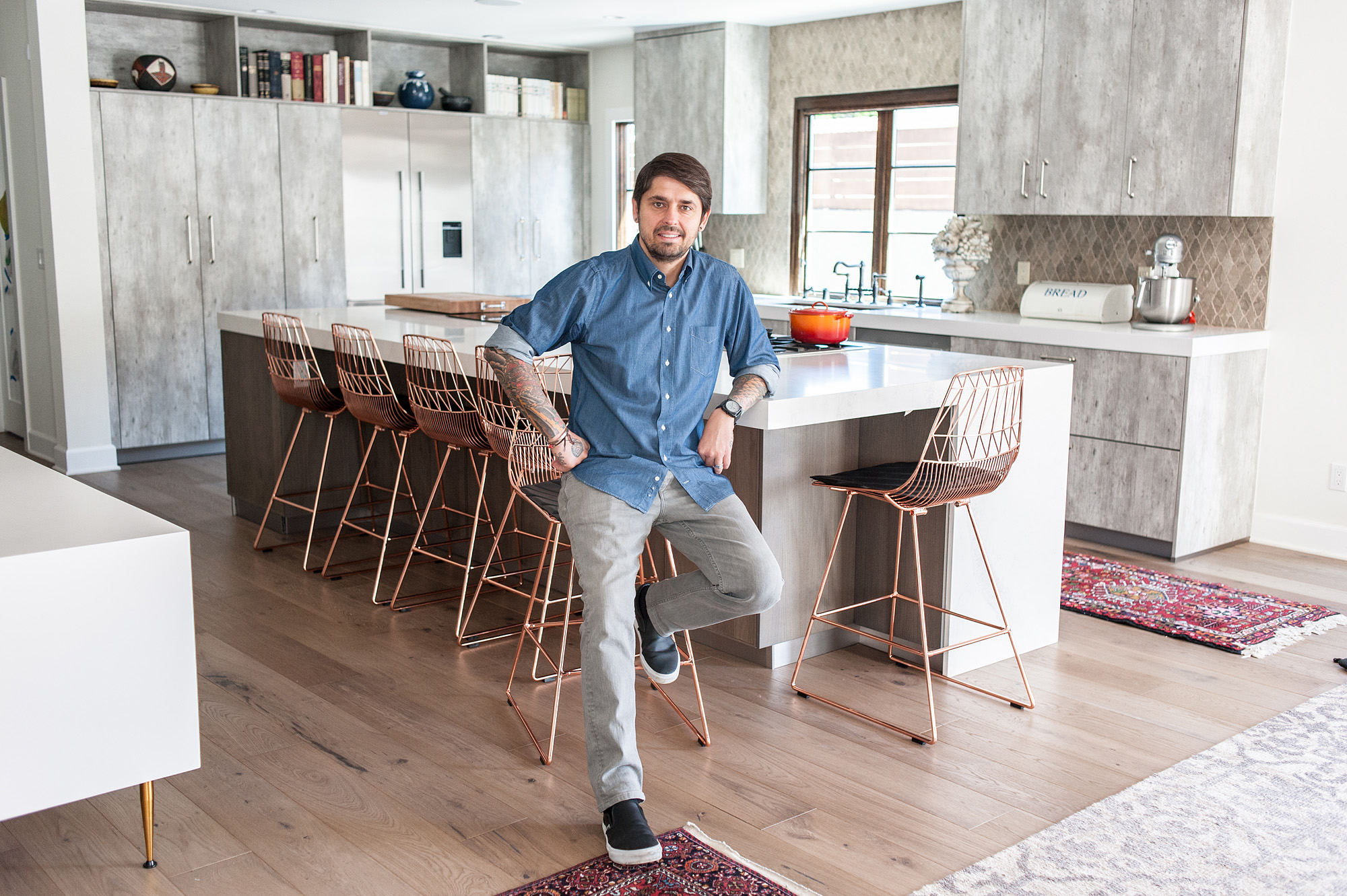 Ludo Lefebvre in his home kitchen