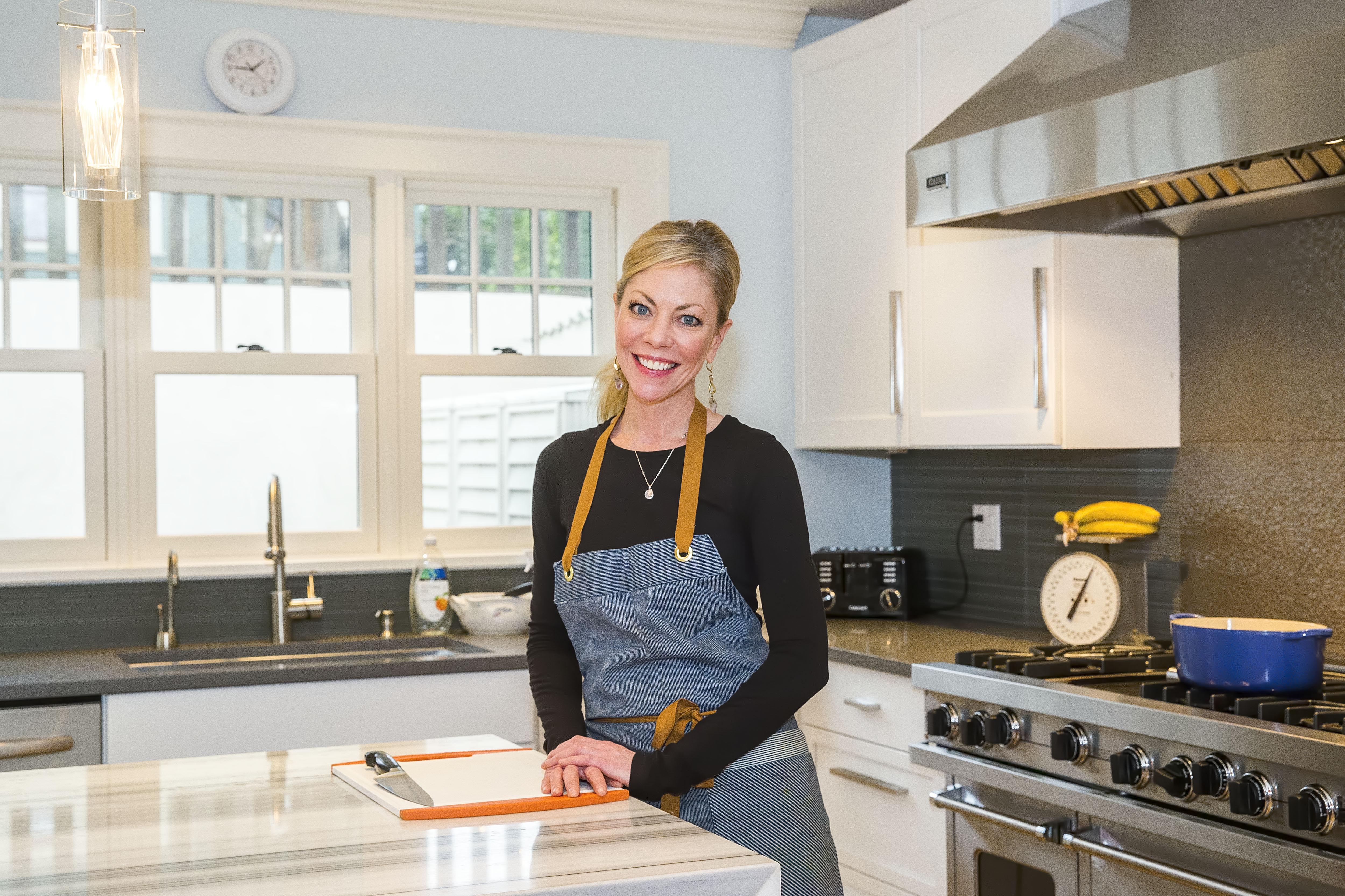 Ericka Burke in her home kitchen