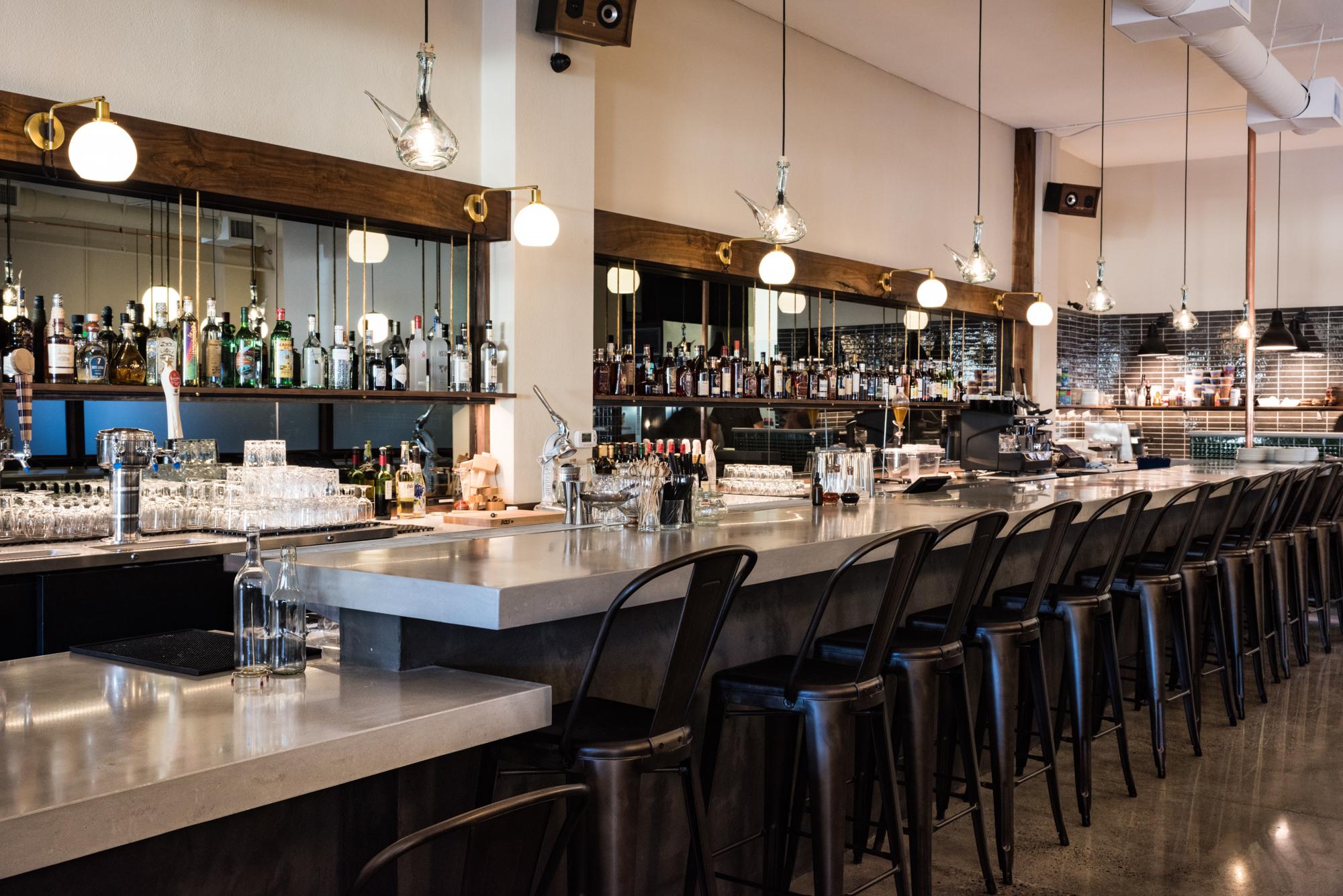 The bar area at Chesa