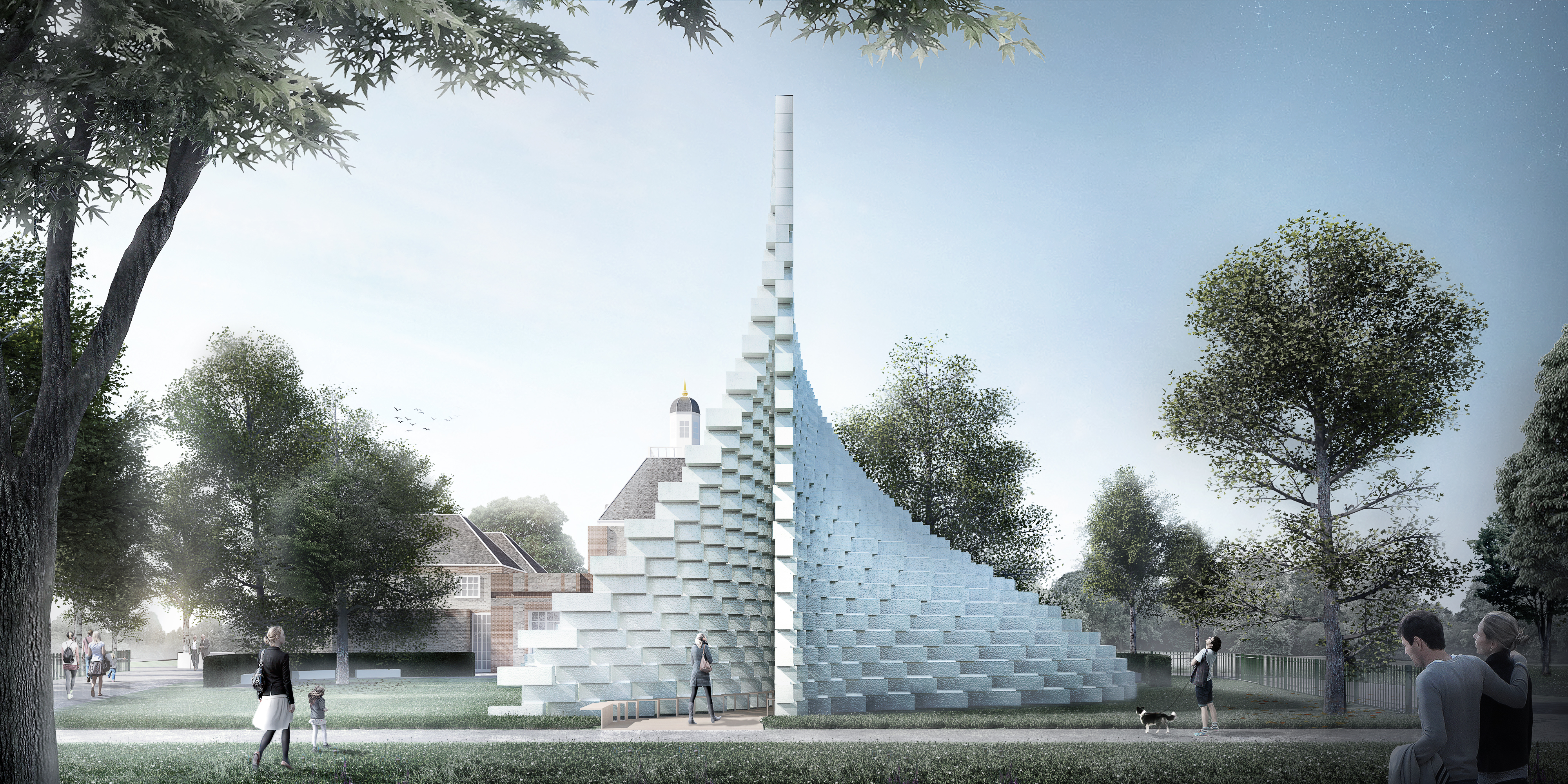 """The """"unzipped wall"""" grows from a """"line"""" to a 3D space."""