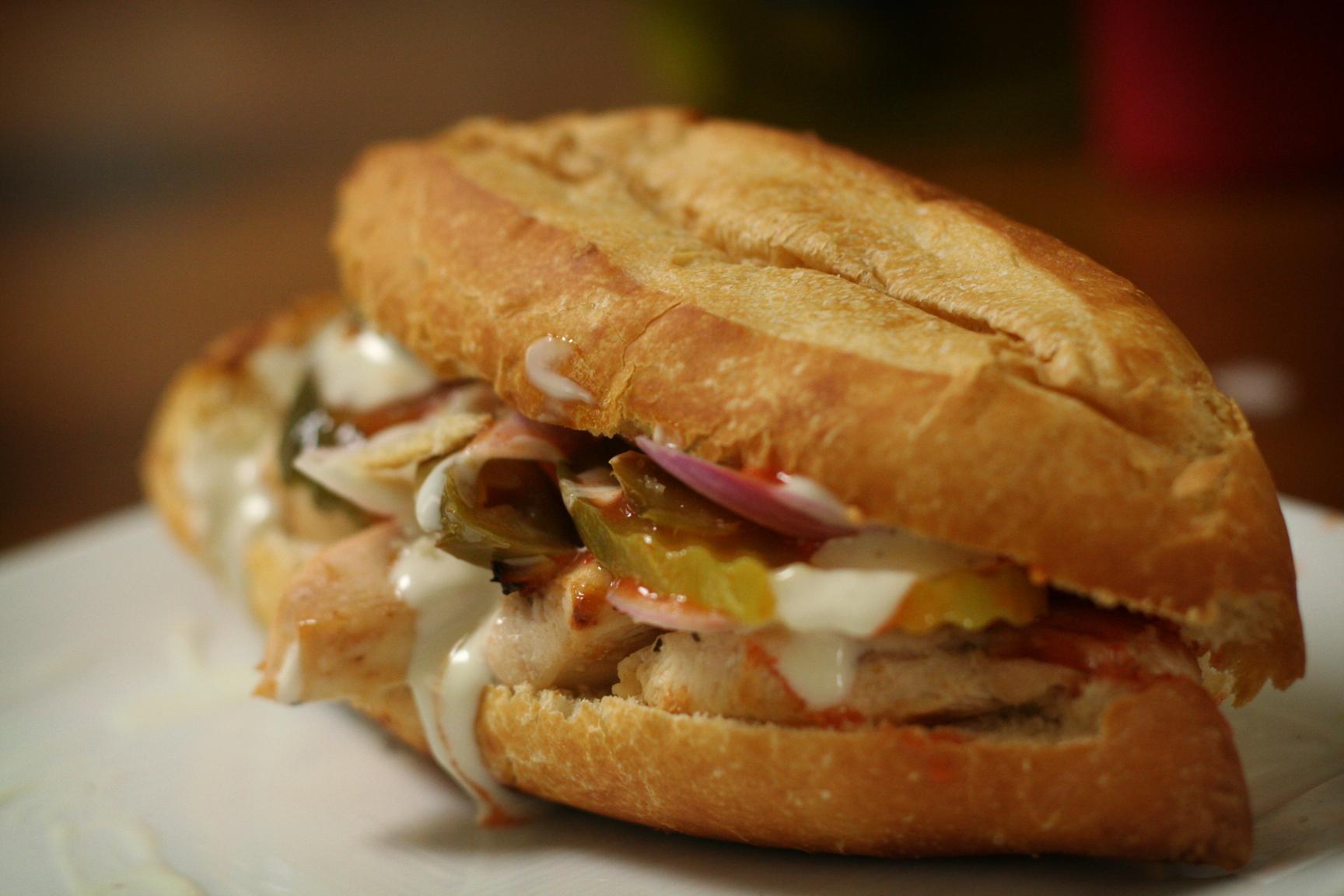 A Subway Buffalo chicken sandwich.