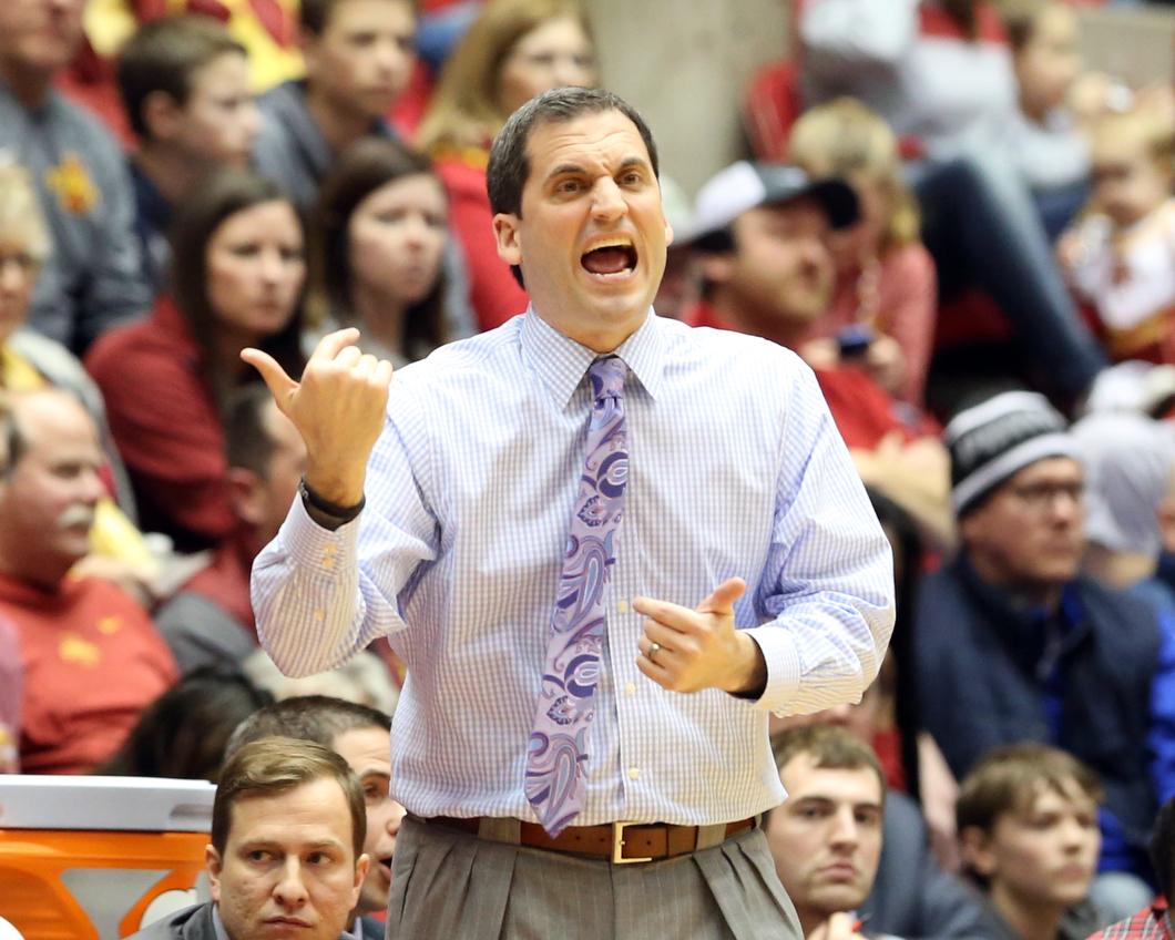 Why is Steve Prohm wearing a purplish tie? HMM.