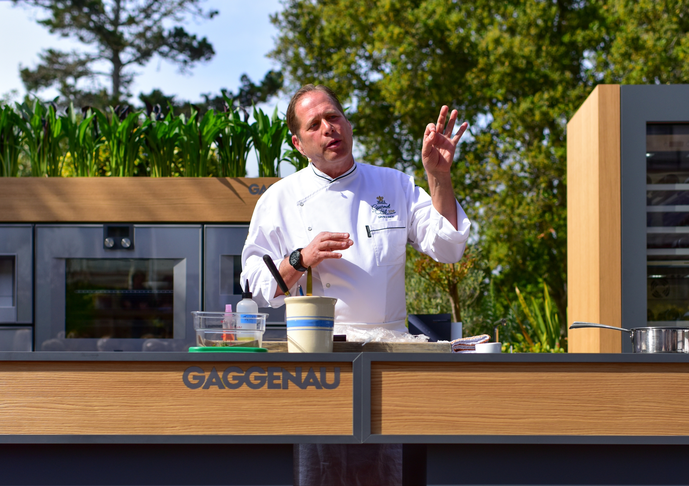 Kinch at his cooking demo.