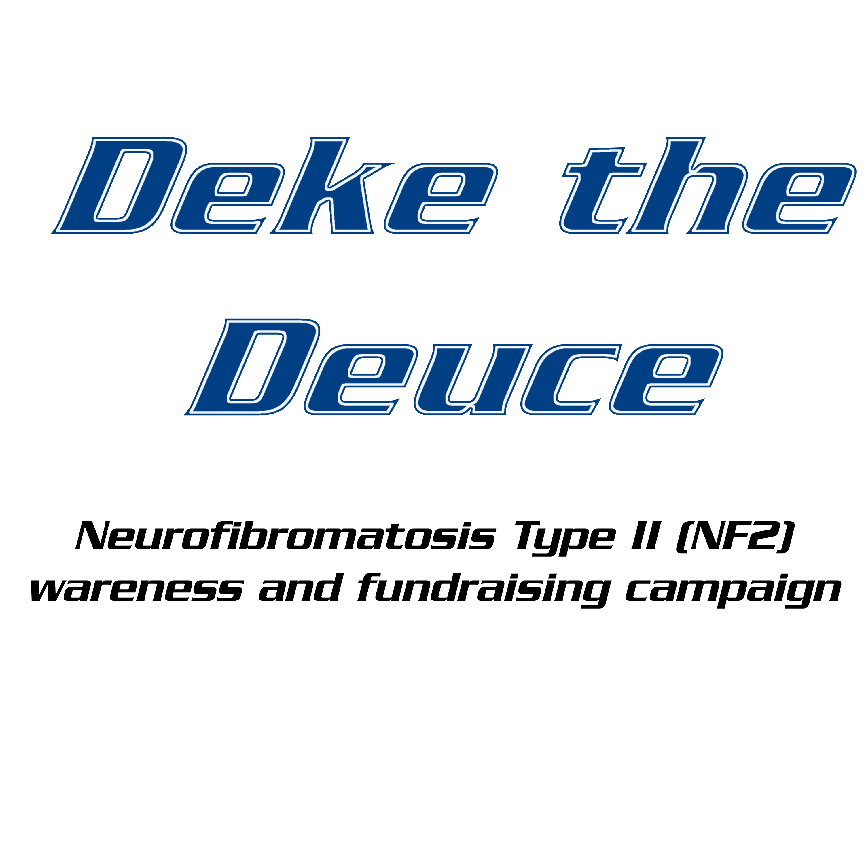The GoFundMe page for the Deke the Deuce charity drive.