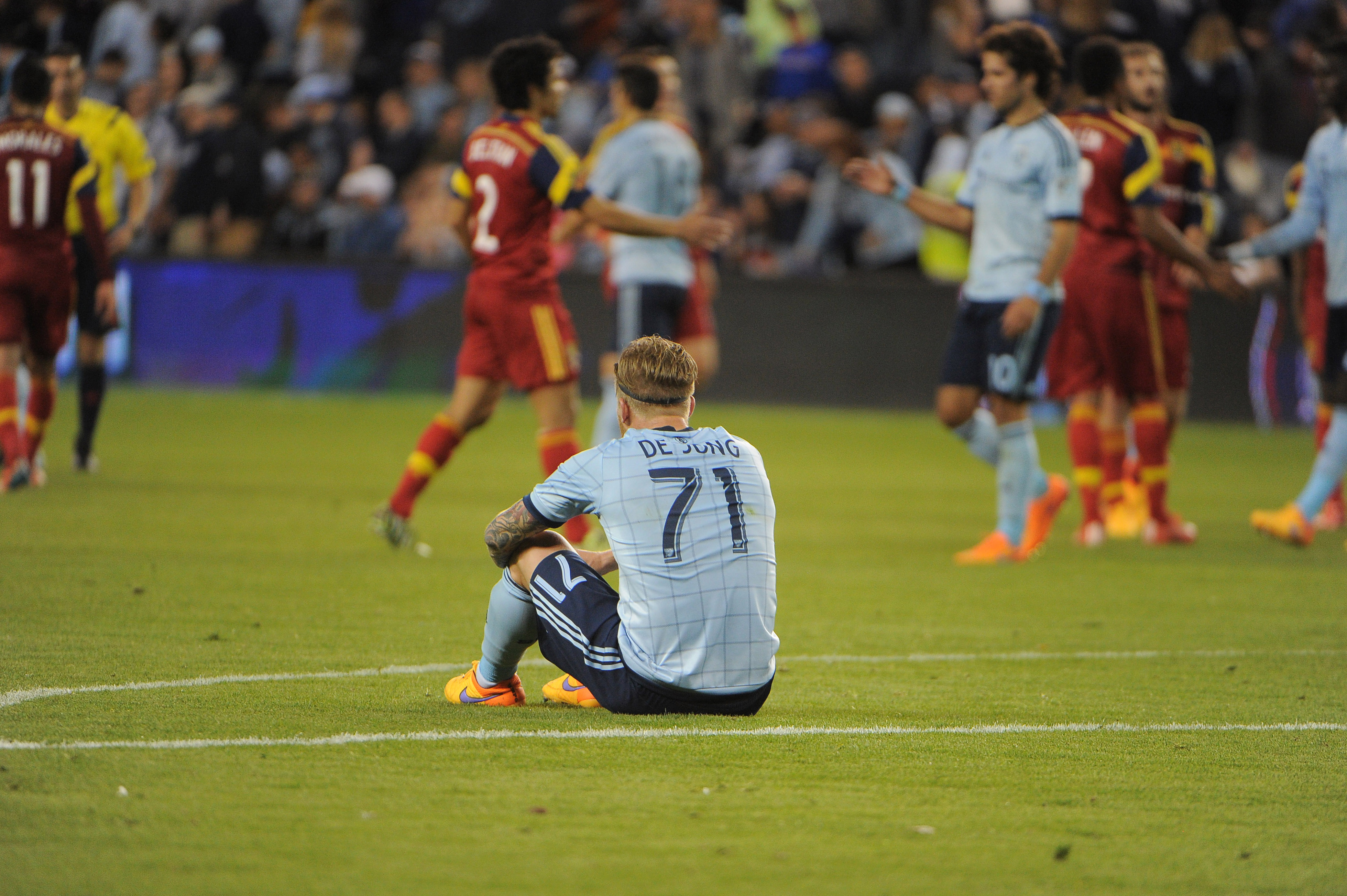 de Jong could not hold onto a starting spot with SKC
