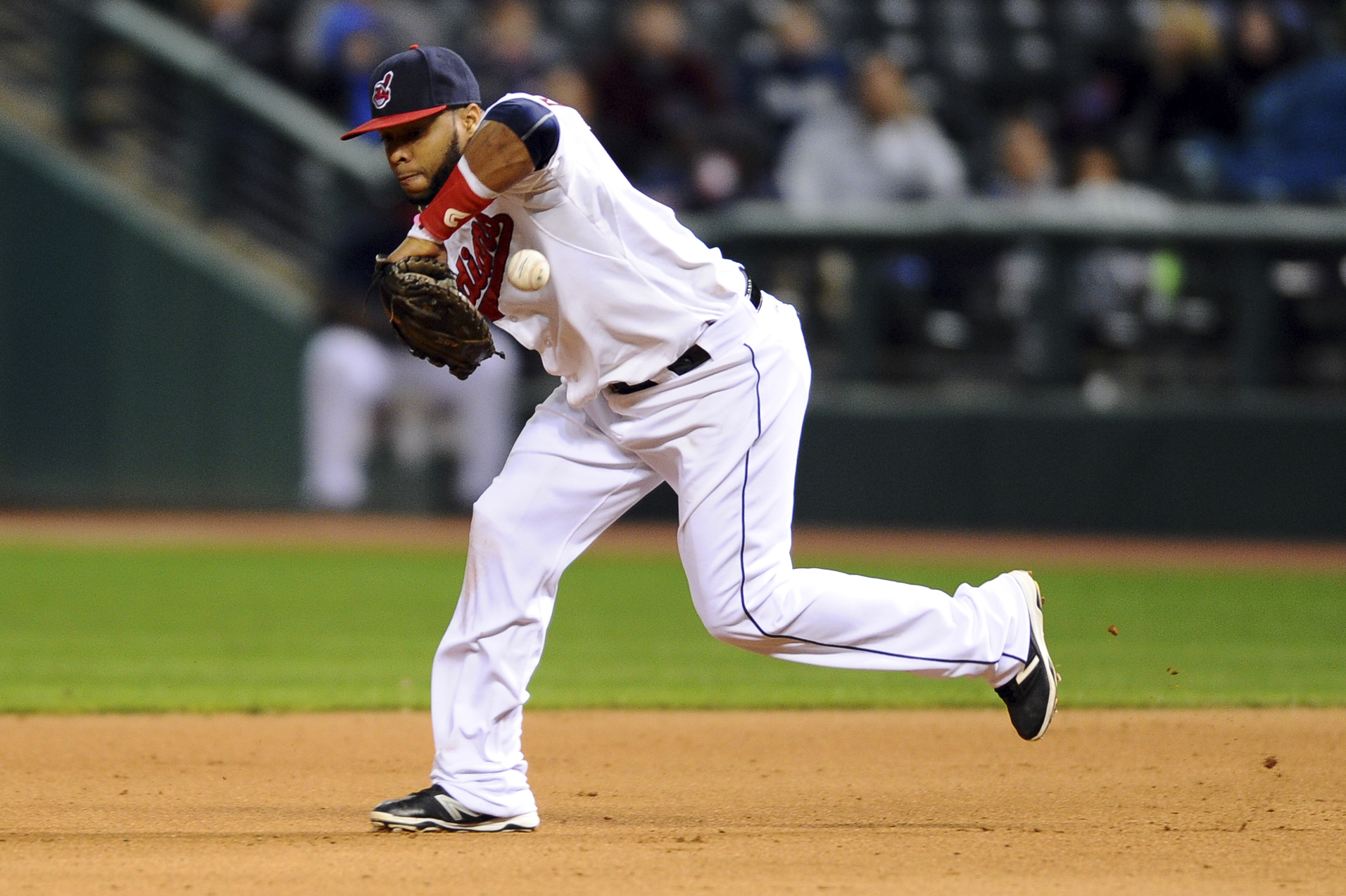 This is likely why Carlos Santana is moving to designated hitter this year.