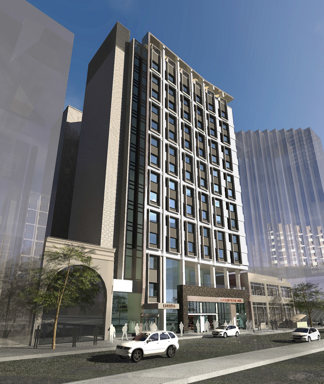 Cambria Hotel Rendering Revealed For Broad And Locust