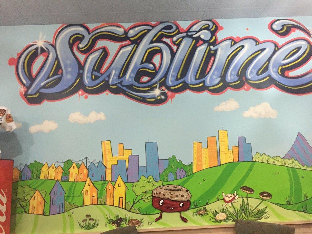 Wall art at Sublime Doughnuts.