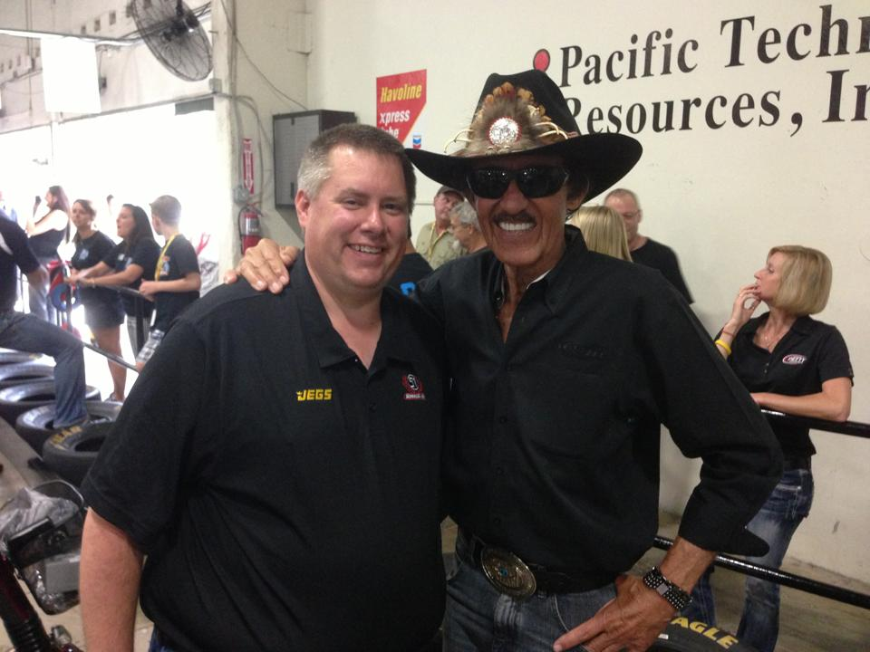 """Kevin Ramsell (left) with """"The King"""" Richard Petty."""