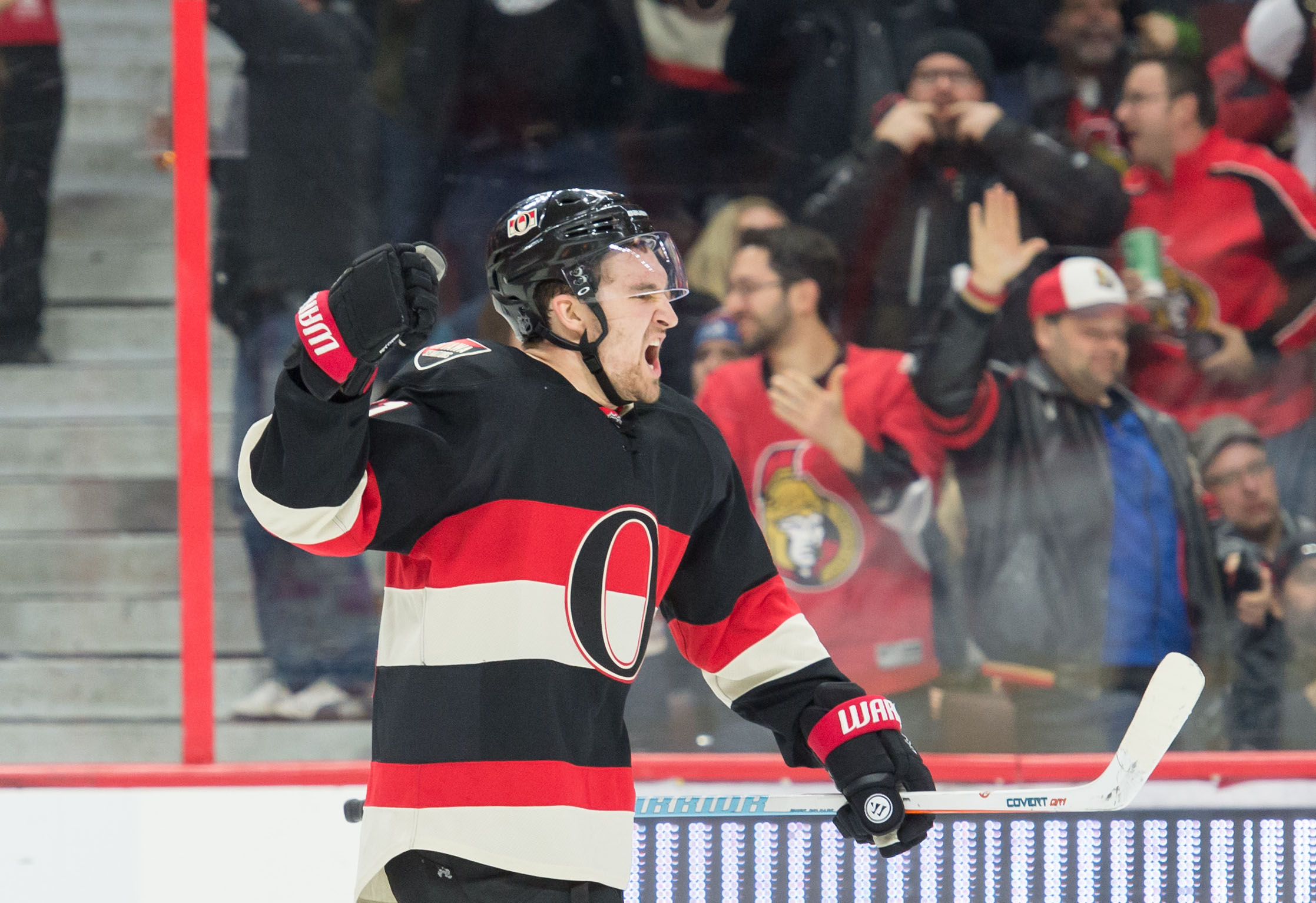 Mark Stone, with that sneeze that just won't come out