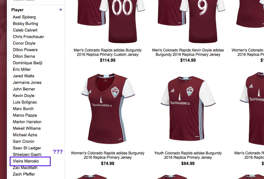 Go to the MLS Shop for Rapids kits. You'll find this.