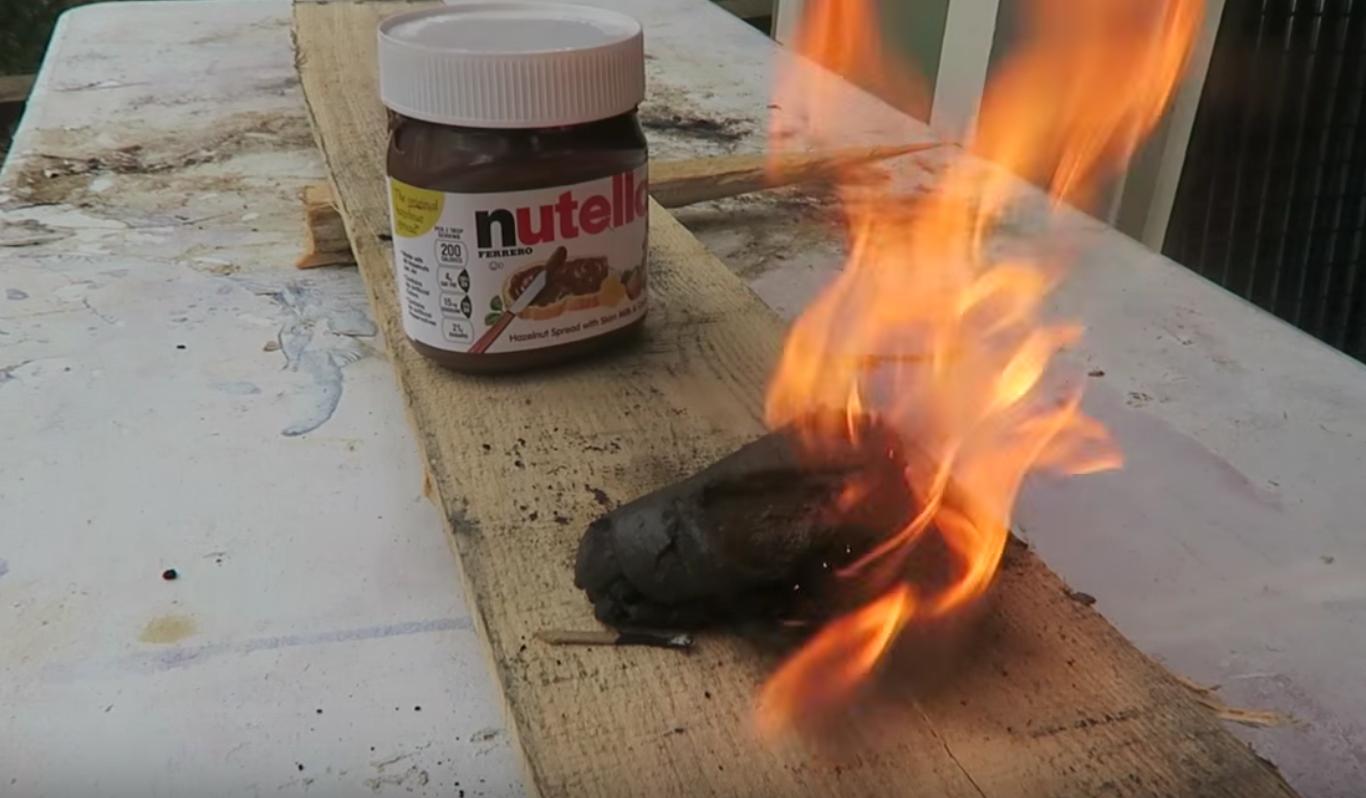 Nutella Is a Pretty Great Fire Starter