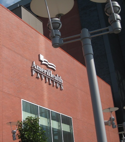 In lieu of an actual professional picture of the AmeriHealth Pavilion, here's an amateur one by me to say goodbye to.