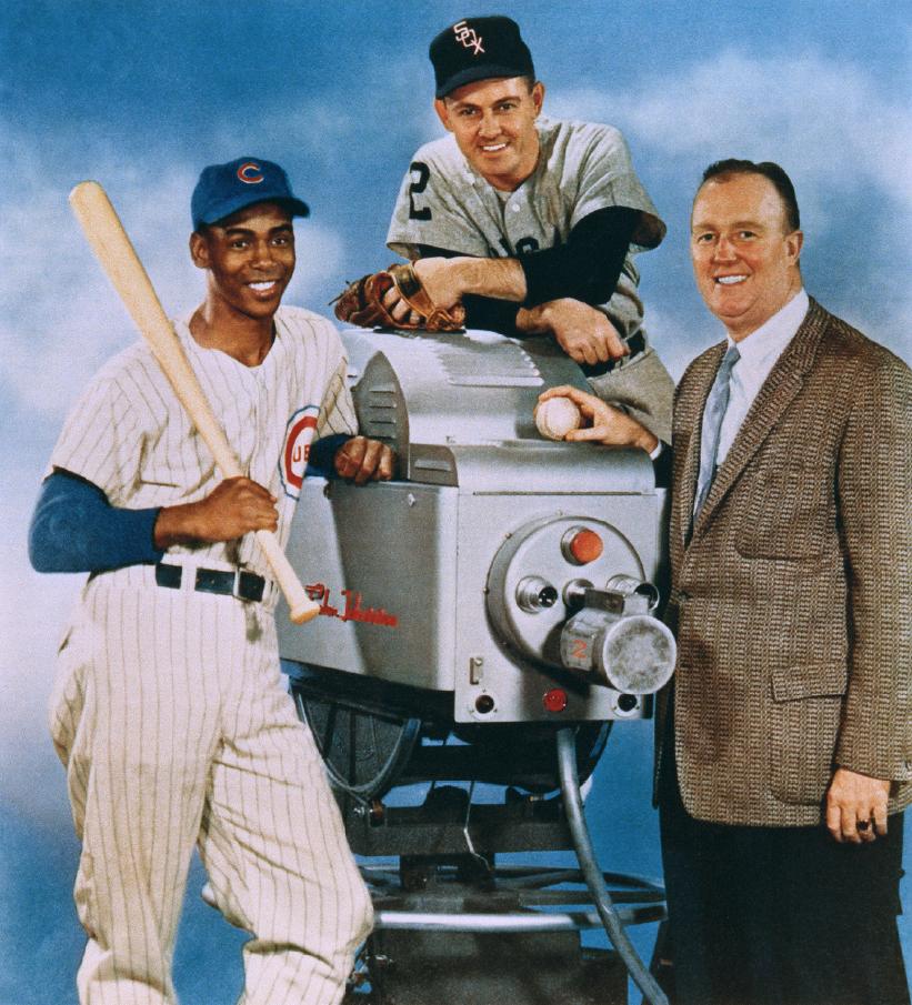 Ernie Banks, Nellie Fox and Jack Brickhouse, around 1960