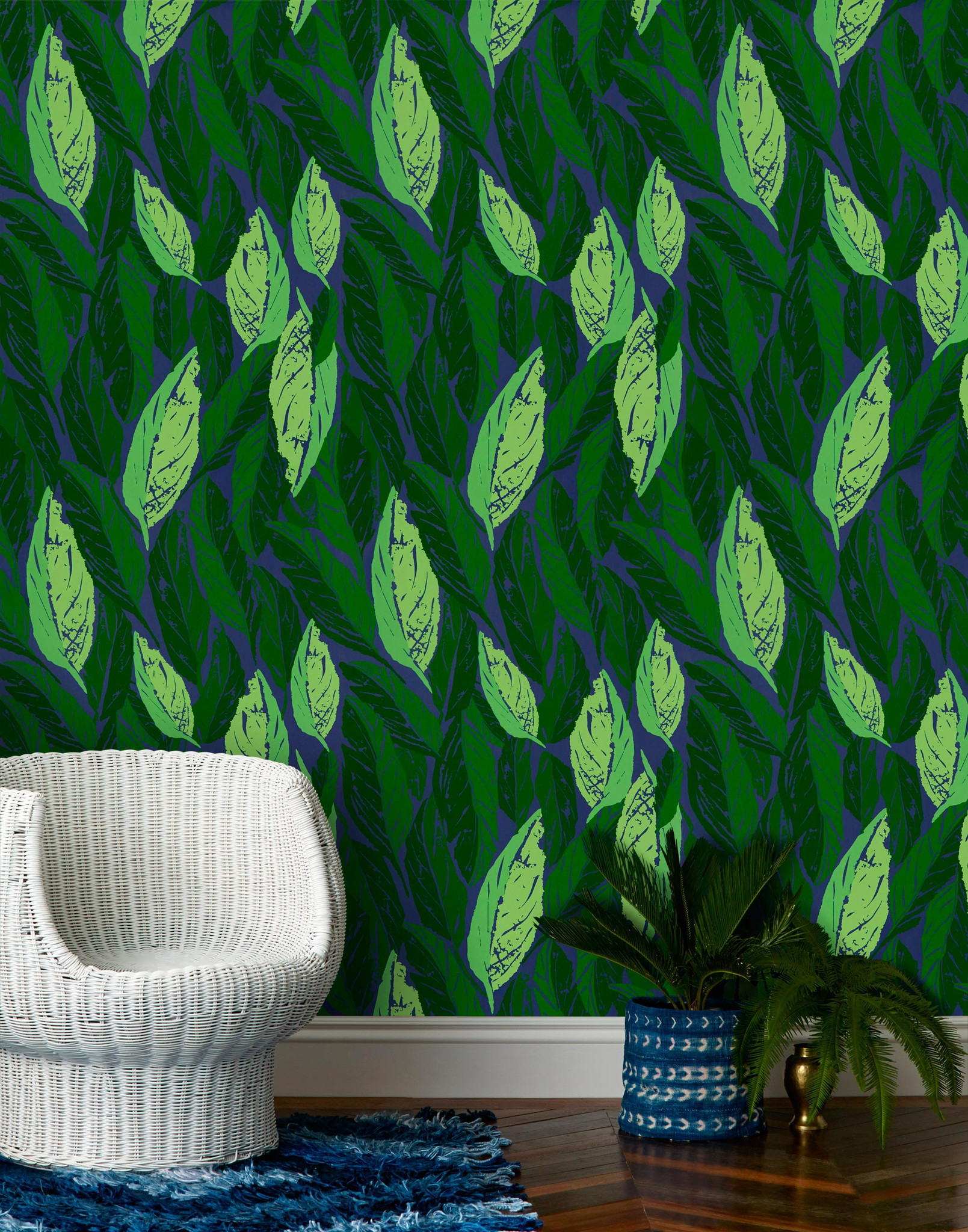 One of several Blakeney-designed patterns for wallpaper company Hygge and West