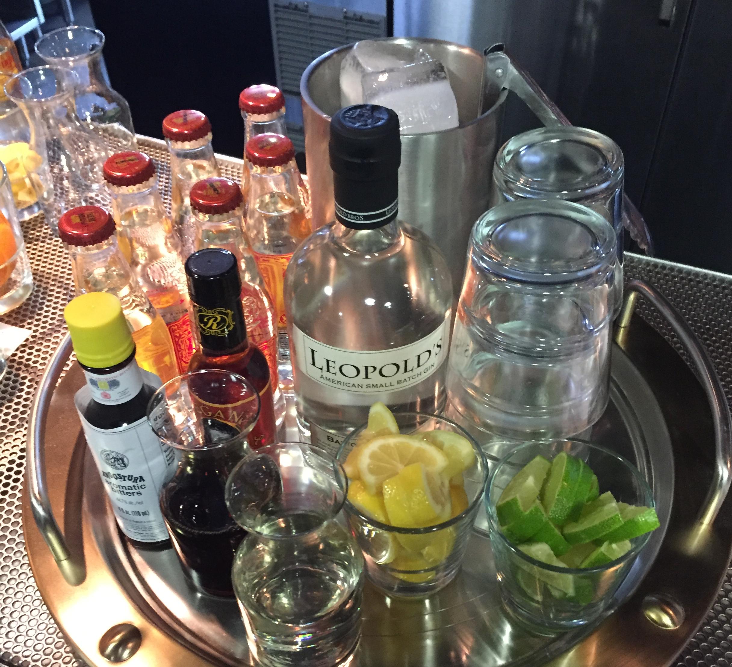 Gin bottle service