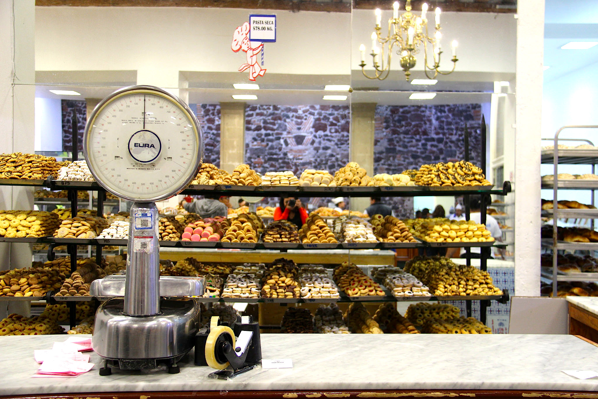 The cookie section at Pastelería Ideal.