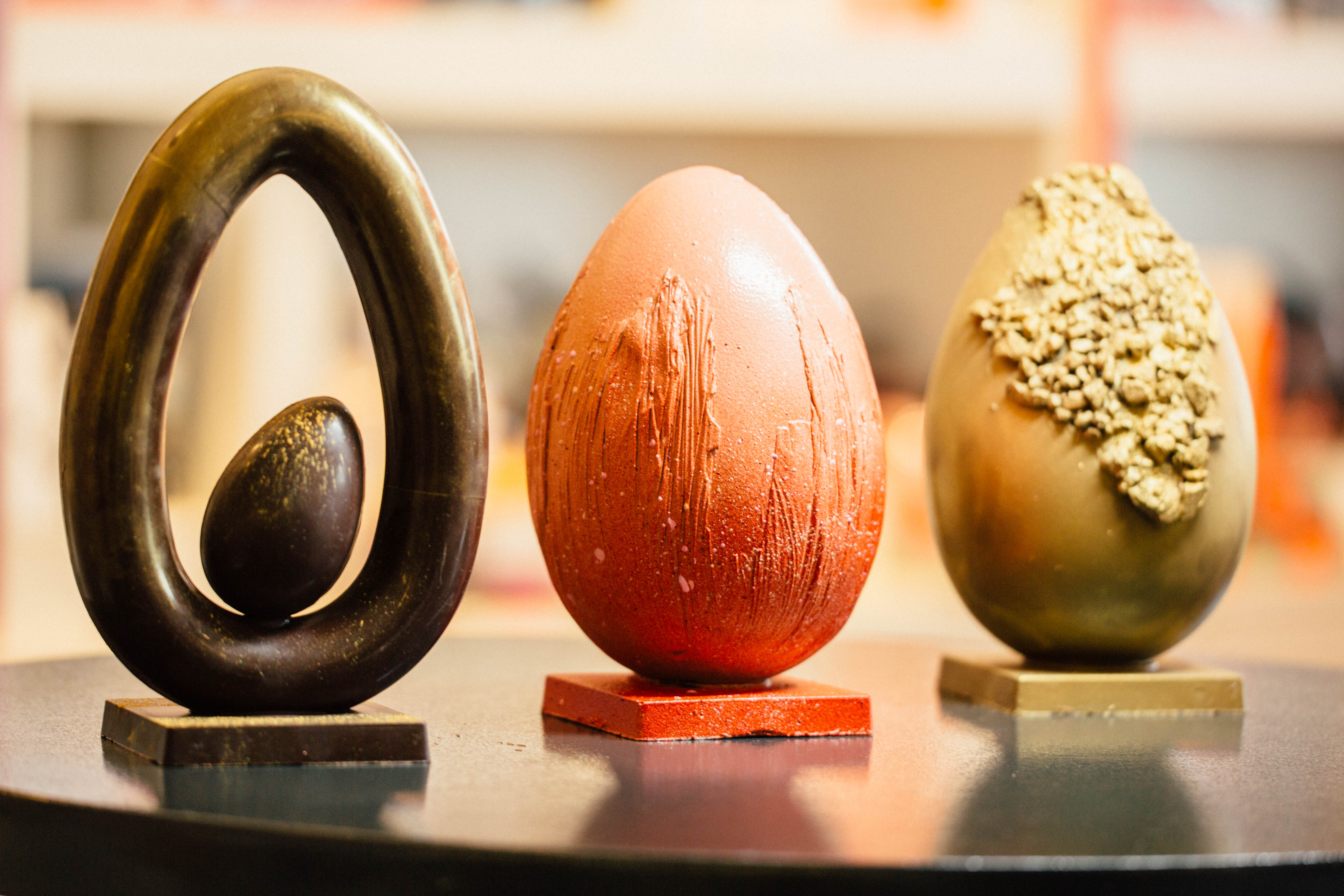 These eggs are made of chocolate and magic.