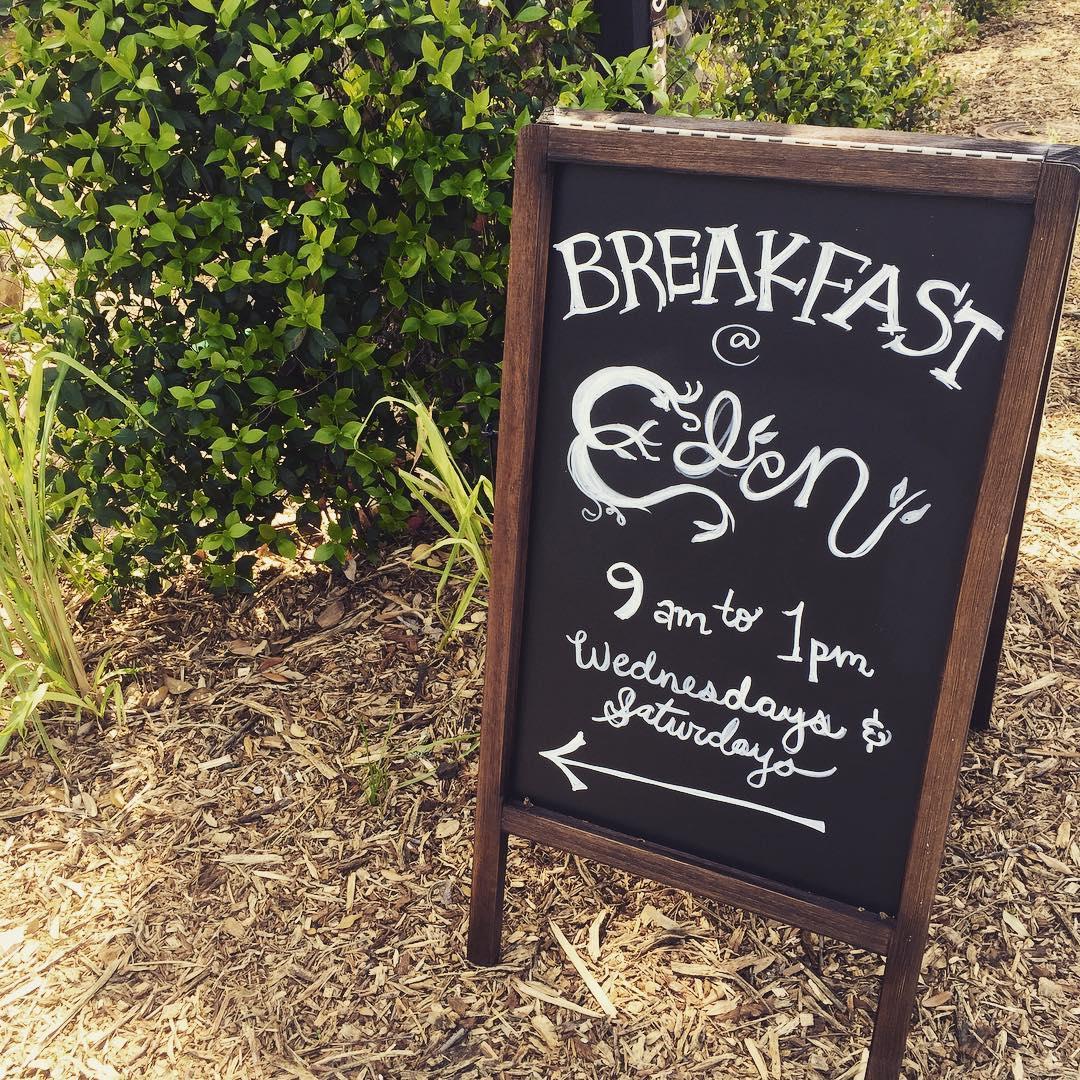 Eden East's breakfast stand