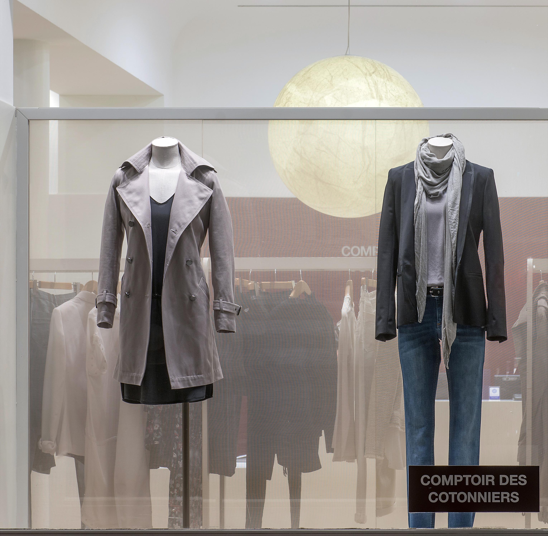 Store window display in Paris, France