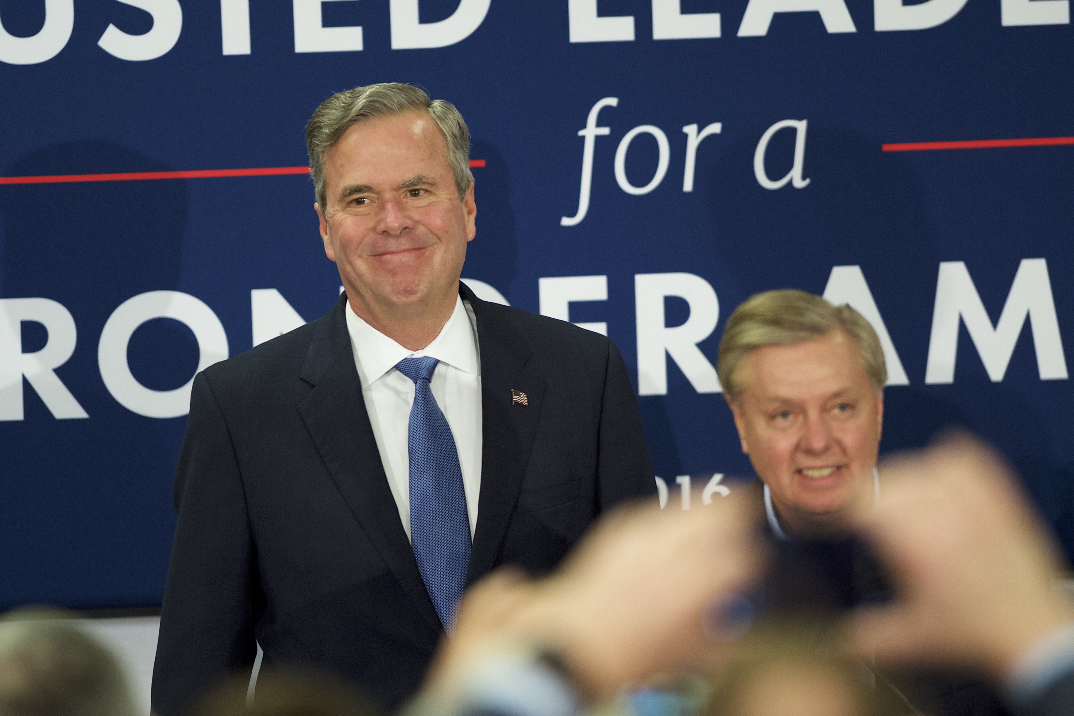 Republican Presidential Candidate Jeb Bush Holds South Carolina Primary Night Gathering