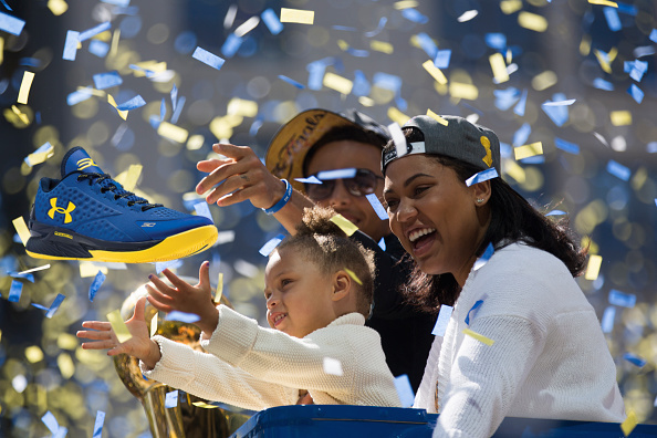 1-year-old Riley was a driving force in Stephen Curry's switch from Nike to Under Armour