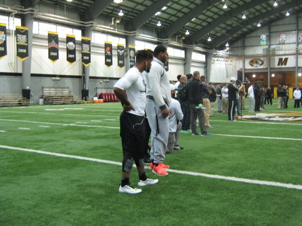 Russell Hansbrough had an impressive 40 time at Mizzou's Pro Day