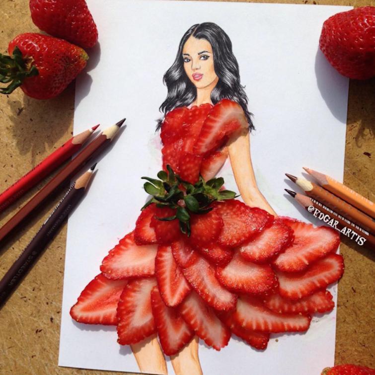 Armenian Illustrator Turns Junk Food Into Fashion Designs