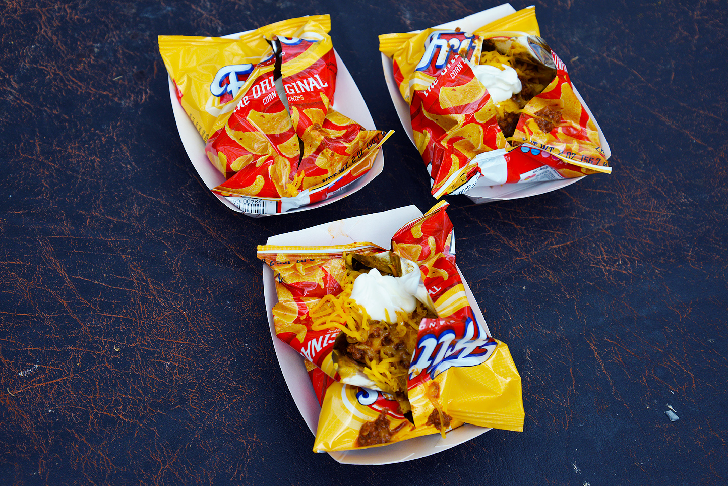 Frito pie is often served right inside the chip bag